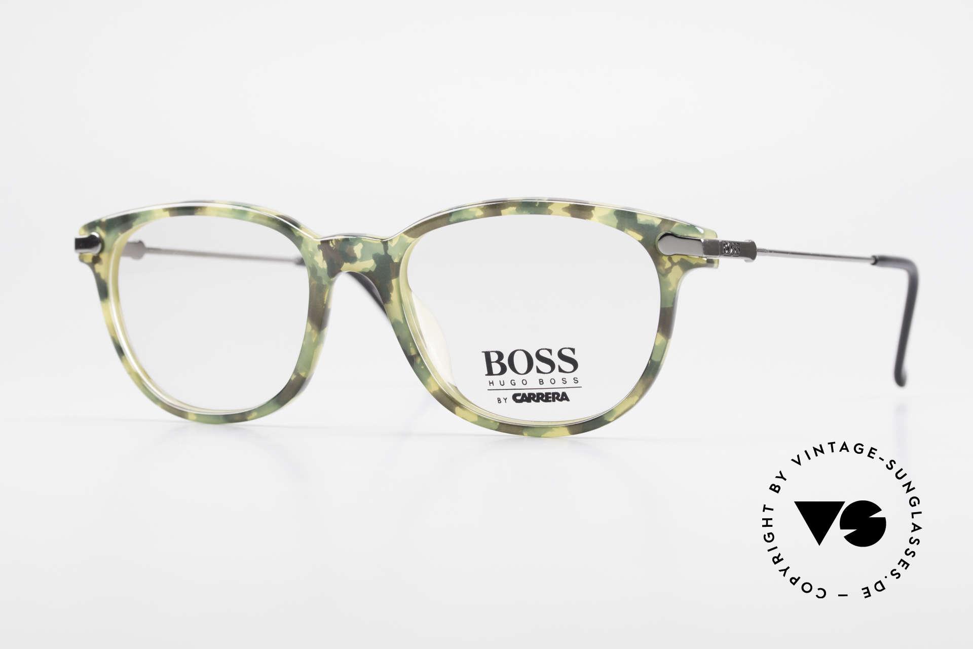 BOSS 5115 Vintage Brille In Tarnfarbe, sehr markante vintage Designer-Fassung von BOSS, Passend für Herren