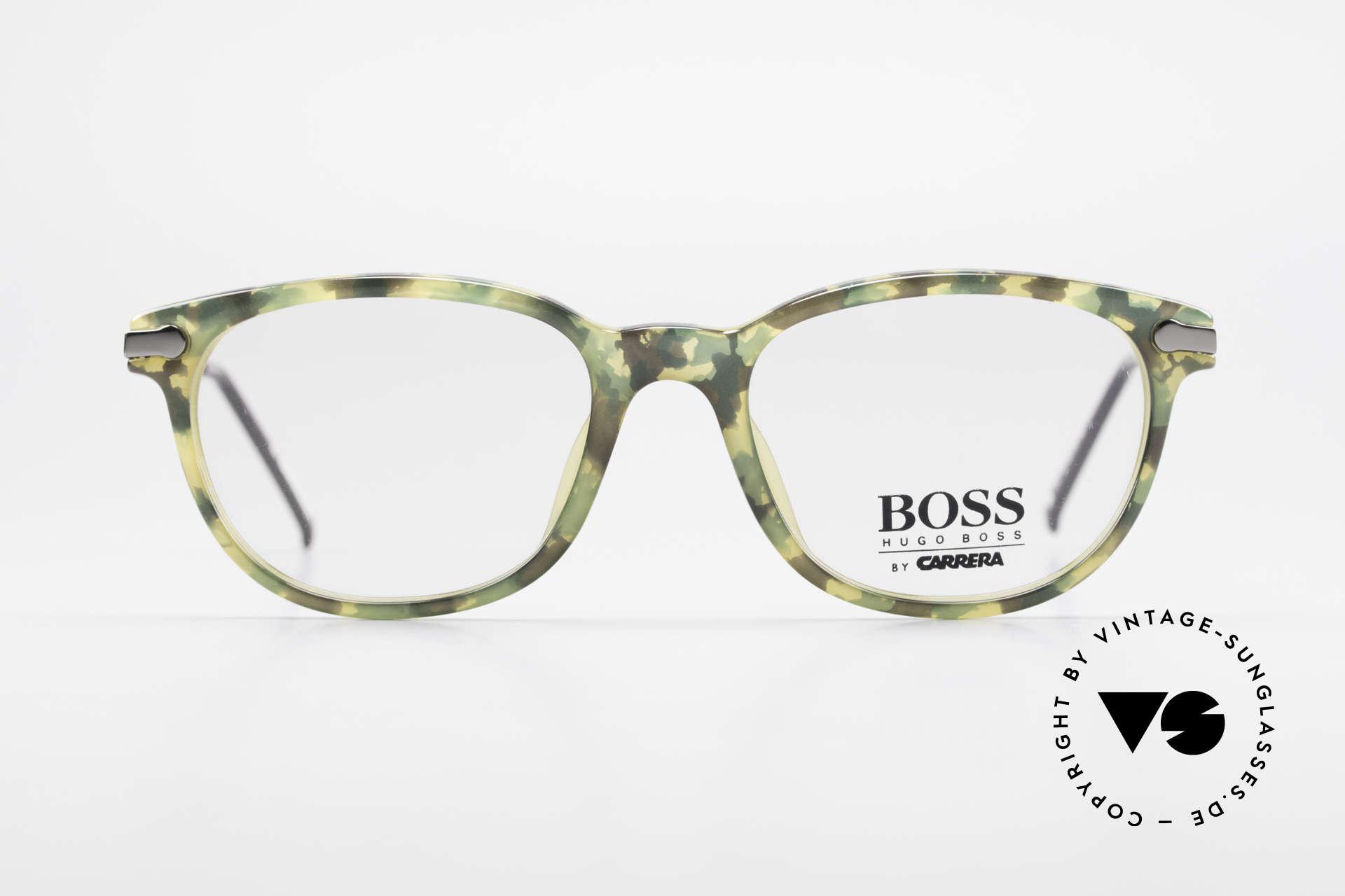 BOSS 5115 Vintage Brille In Tarnfarbe, Kooperation von Boss & Carrera in den 90er Jahren, Passend für Herren
