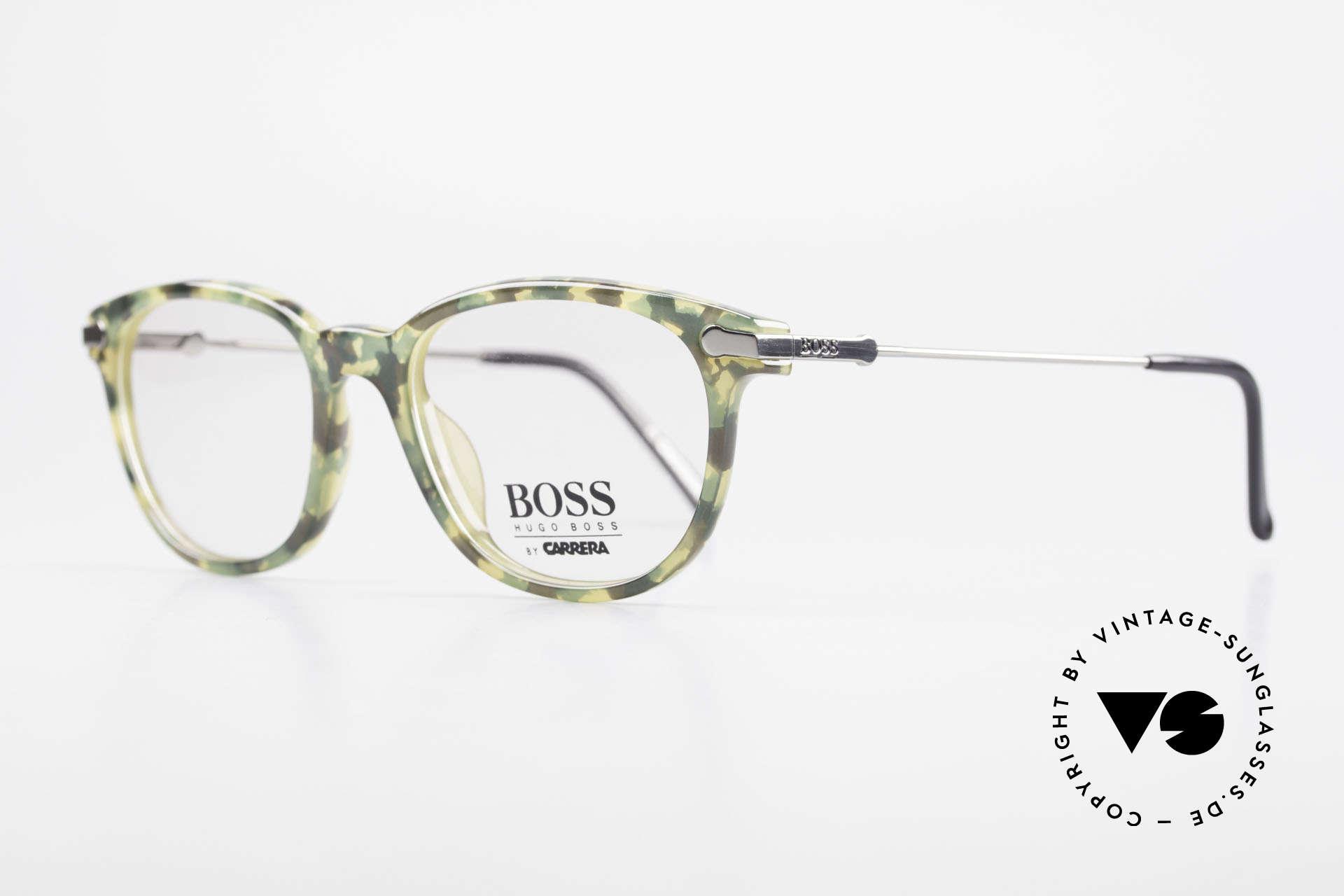 BOSS 5115 Vintage Brille In Tarnfarbe, Muster der Brillen-Front wirkt wie eine Tarnfarbe, Passend für Herren