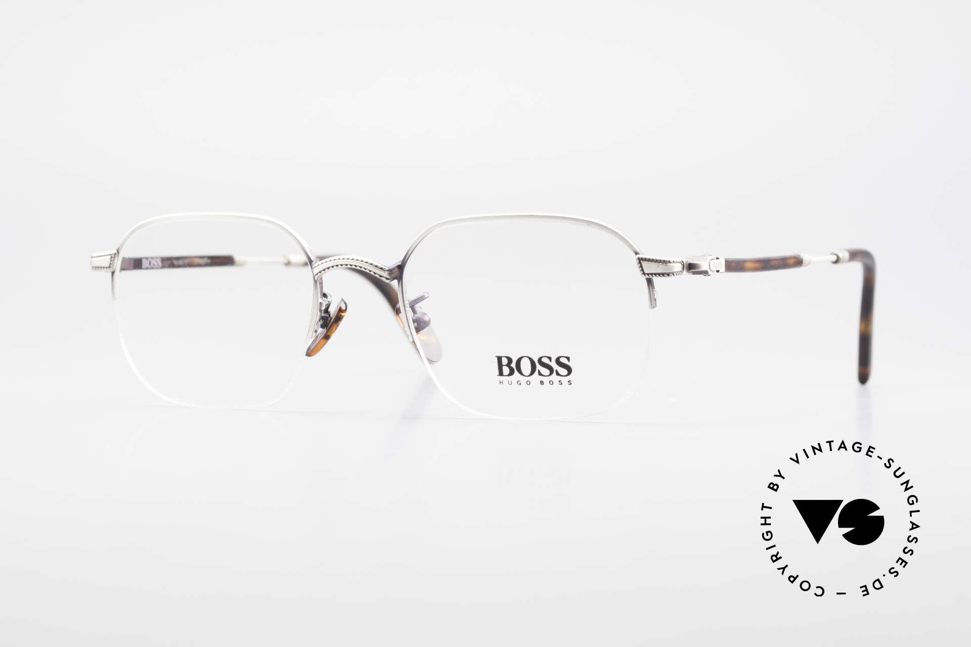 BOSS 4712 Klassische Herrenbrille 90er, klassische vintage Designer-Fassung von Hugo BOSS, Passend für Herren