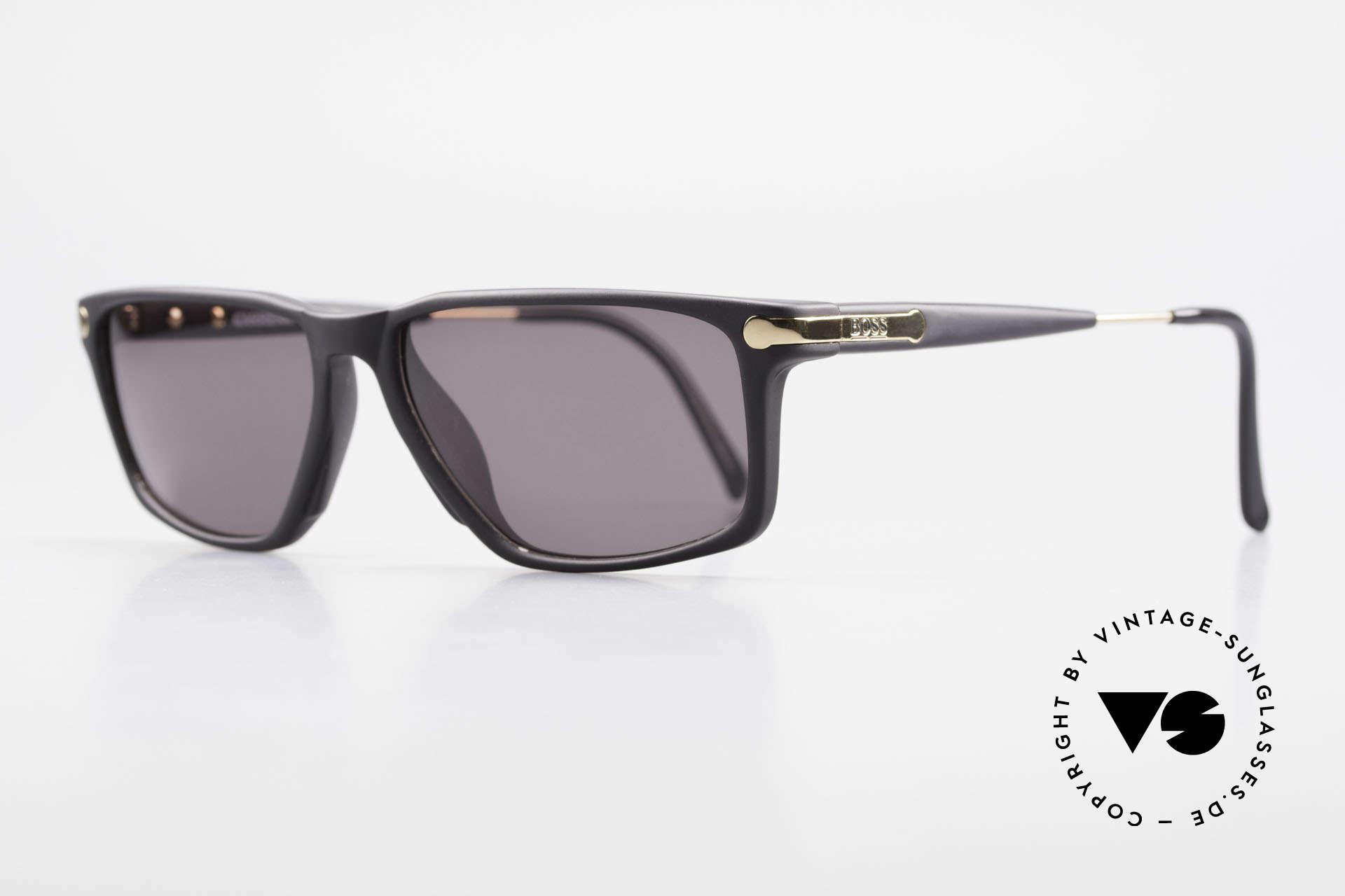 BOSS 5174 Vintage Sonnenbrille Eckig, Rahmen aus enorm hochwertigem Optyl-Kunststoff, Passend für Herren
