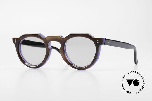 Lesca Panto 8mm 60er Frankreich Brille Panto Details