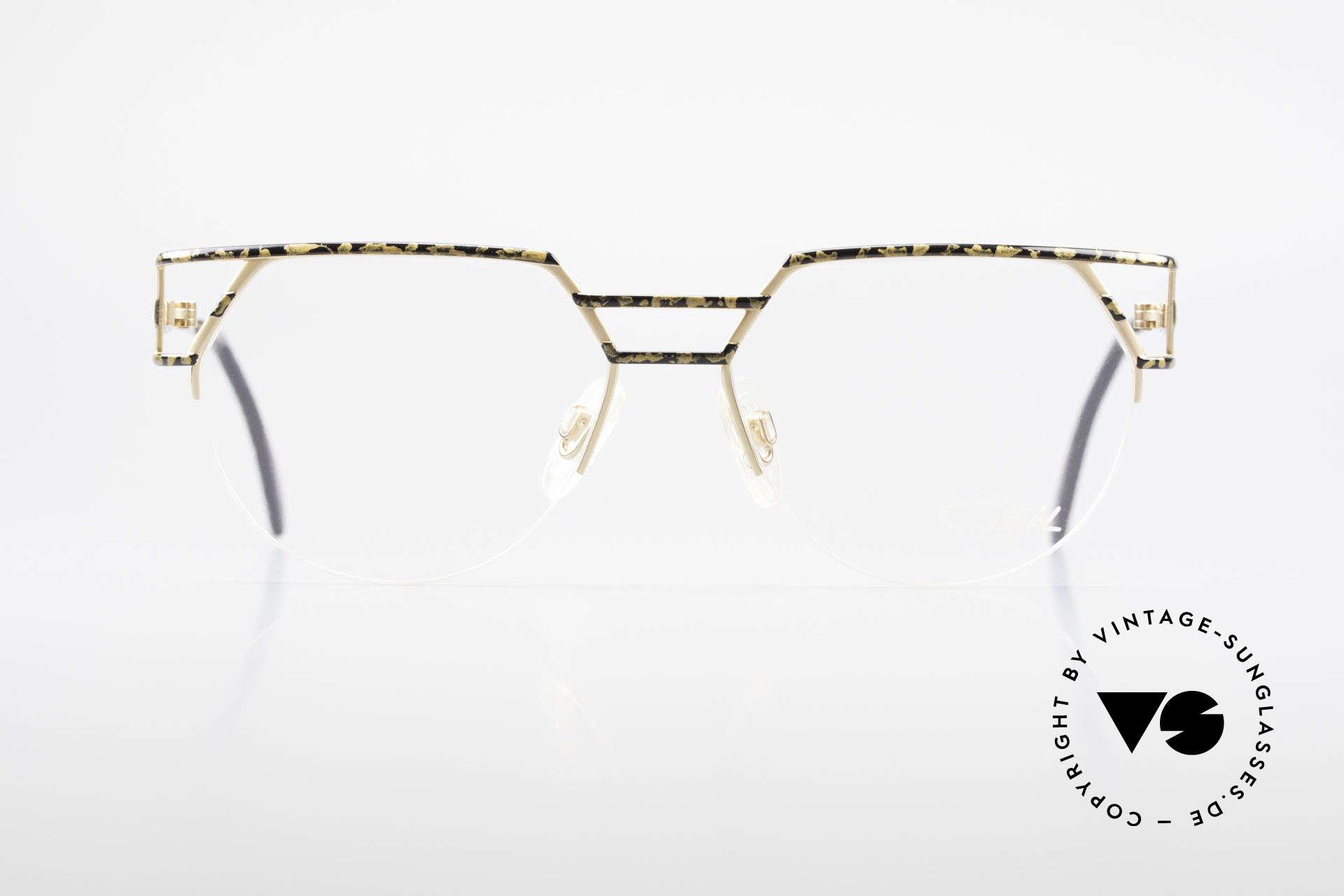 Cazal 248 90er No Retro Originalbrille, halb rahmenlos in TOP-Qualität (made in Germany), Passend für Herren und Damen