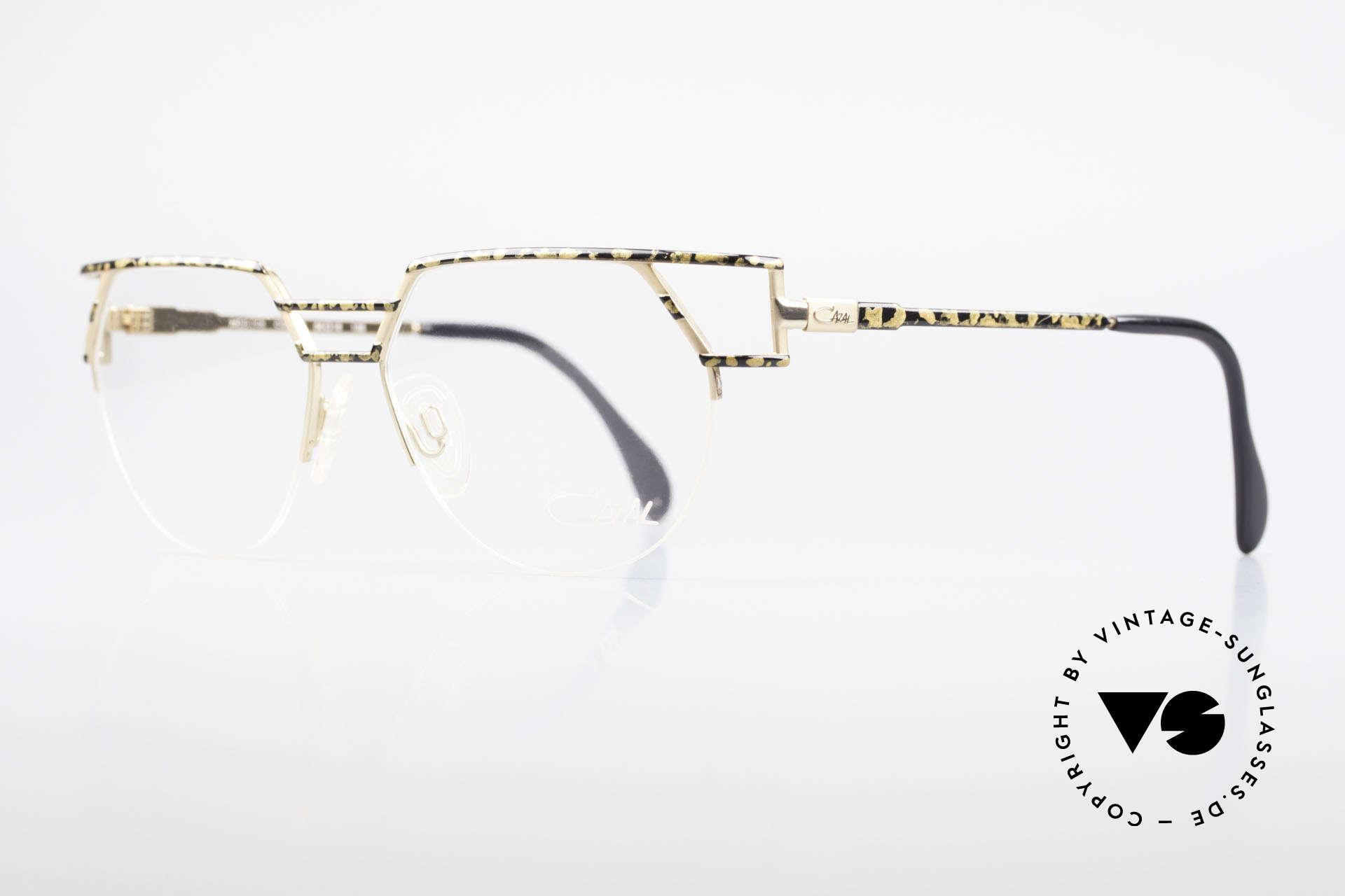 Cazal 248 90er No Retro Originalbrille, elegante Rahmengestaltung: gold/schwarz gesprenkelt, Passend für Herren und Damen