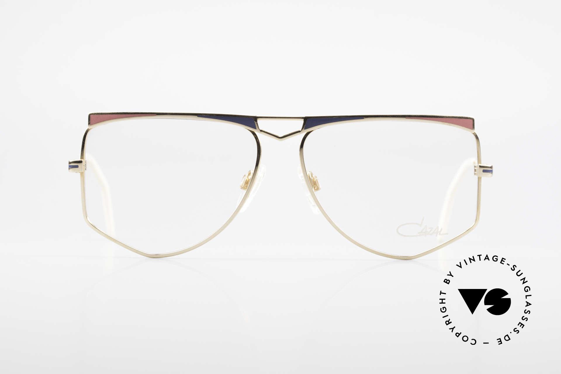 Cazal 227 Echt Alte 80er Vintage Brille, perfekt abgestimmte Rahmengestaltung (typisch 80er), Passend für Damen