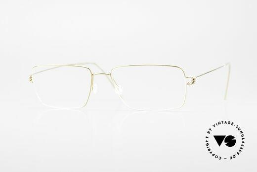Lindberg Nikolaj Air Titan Rim Eckige Titanium Brille Herren Details