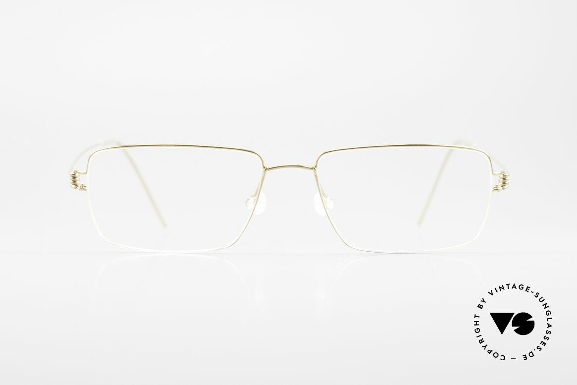 Lindberg Nikolaj Air Titan Rim Eckige Titanium Brille Herren