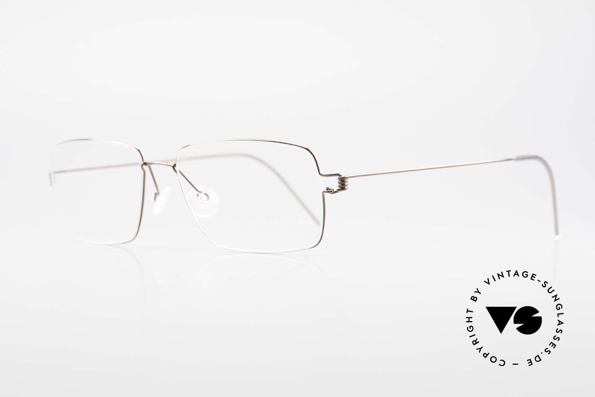 """Lindberg Nikolaj Air Titan Rim High-End Titanium Herrenbrille, so zeitlos, stilvoll und innovativ = Prädikat """"VINTAGE"""", Passend für Herren"""