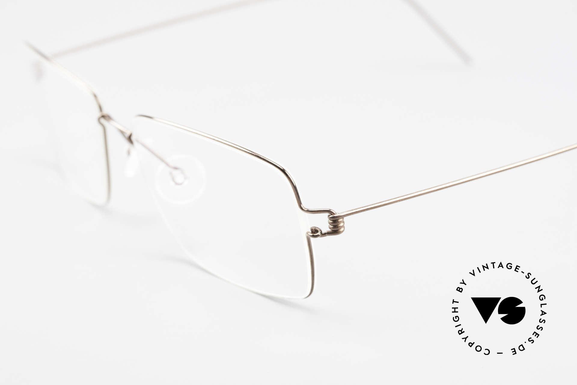 Lindberg Nikolaj Air Titan Rim High-End Titanium Herrenbrille, extrem stabile Fassung, flexibel & elastisch, und nur 3g, Passend für Herren