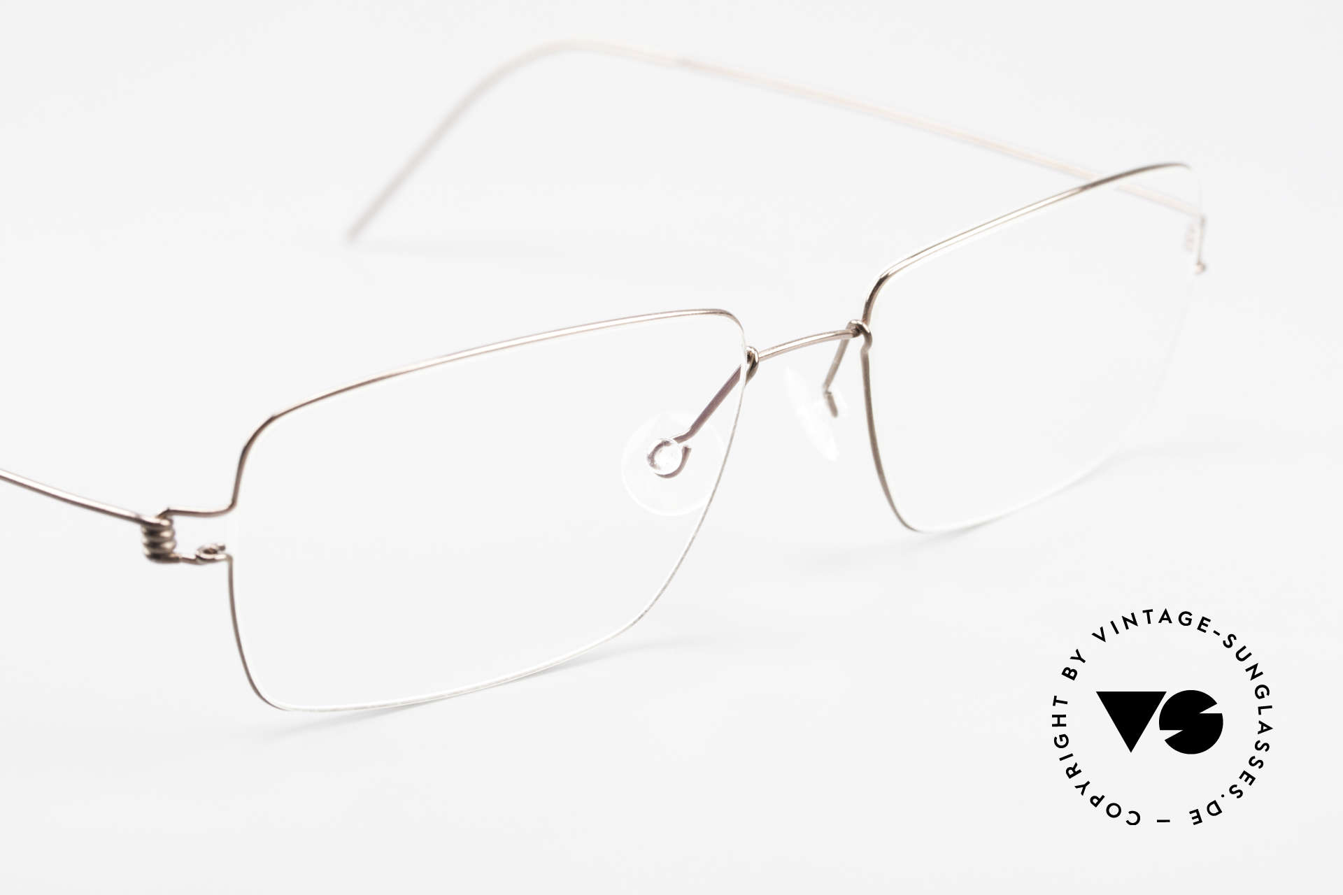 Lindberg Nikolaj Air Titan Rim High-End Titanium Herrenbrille, ungetragenes Designerstück + orig. Lindberg Magnet-Etui, Passend für Herren