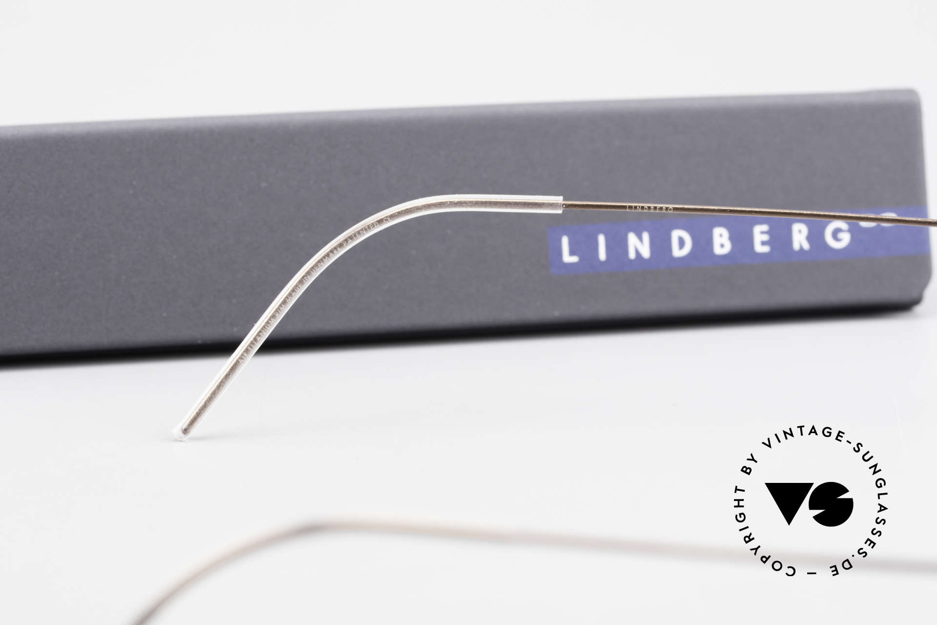 Lindberg Nikolaj Air Titan Rim High-End Titanium Herrenbrille, Größe: medium, Passend für Herren