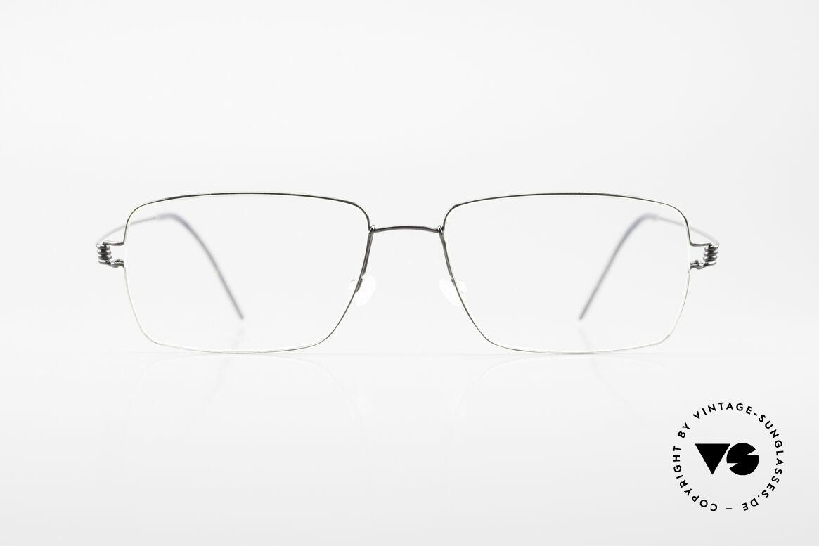 Lindberg Nikolaj Air Titan Rim Klassische Titan Herrenbrille, LINDBERG Air Titanium Rim Brille in Größe 54-17, 145, Passend für Herren