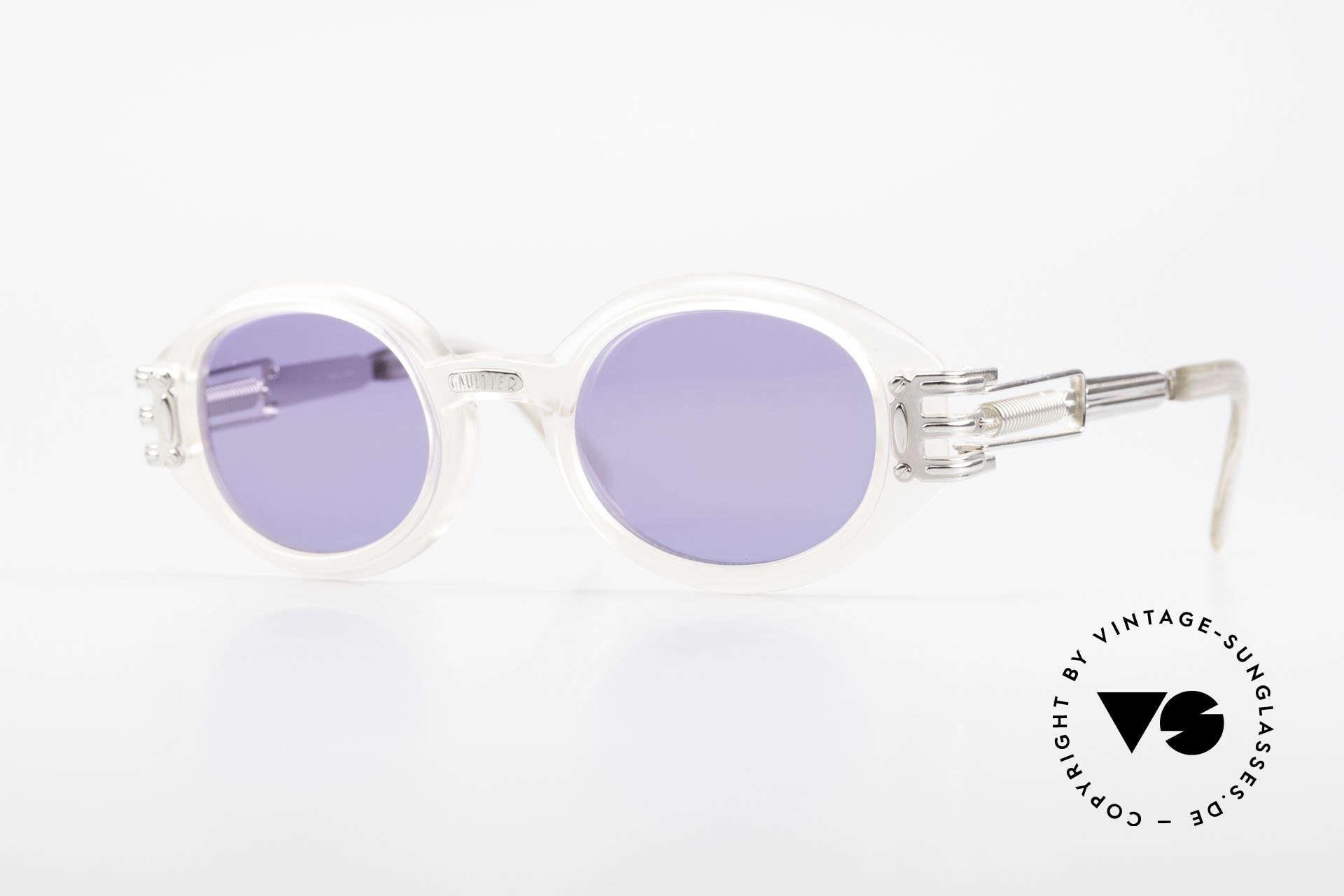 Jean Paul Gaultier 56-5203 Steampunk Designer Brille, vintage 1990er Jean Paul Gaultier Kultsonnenbrille, Passend für Herren und Damen