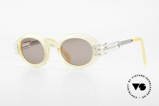 Jean Paul Gaultier 56-5203 90er Steampunk Brille Oval Details