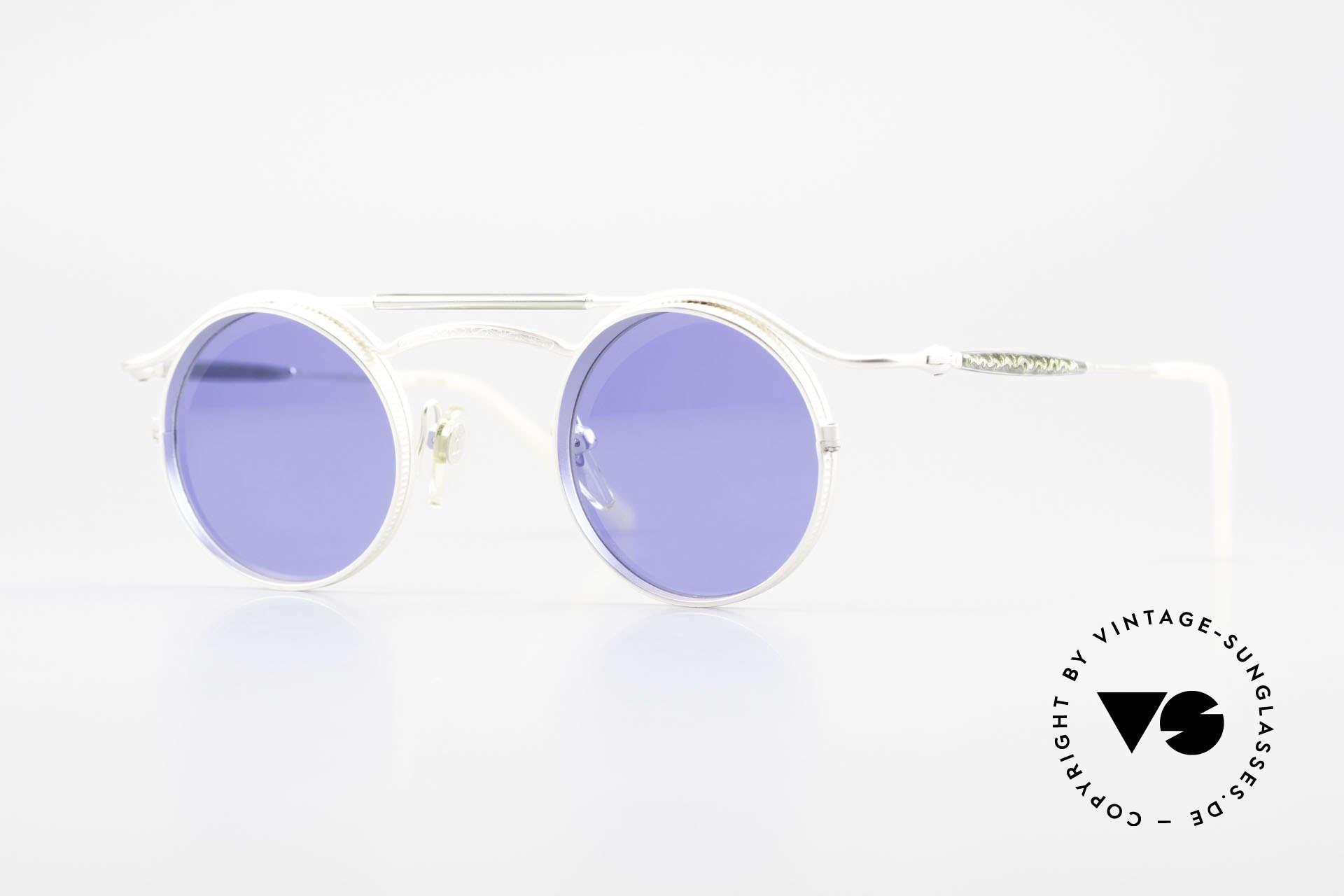 Matsuda 2903 Steampunk Sonnenbrille 90er, vintage Matsuda Sonnenbrille aus den frühen 1990ern, Passend für Herren und Damen