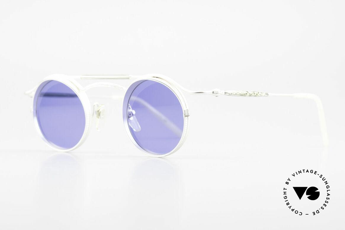 """Matsuda 2903 Steampunk Sonnenbrille 90er, viele interessante Rahmendetails im """"Retro-Futurismus"""", Passend für Herren und Damen"""