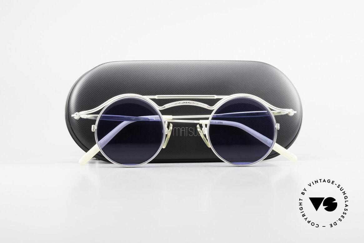 Matsuda 2903 Steampunk Sonnenbrille 90er, Größe: medium, Passend für Herren und Damen