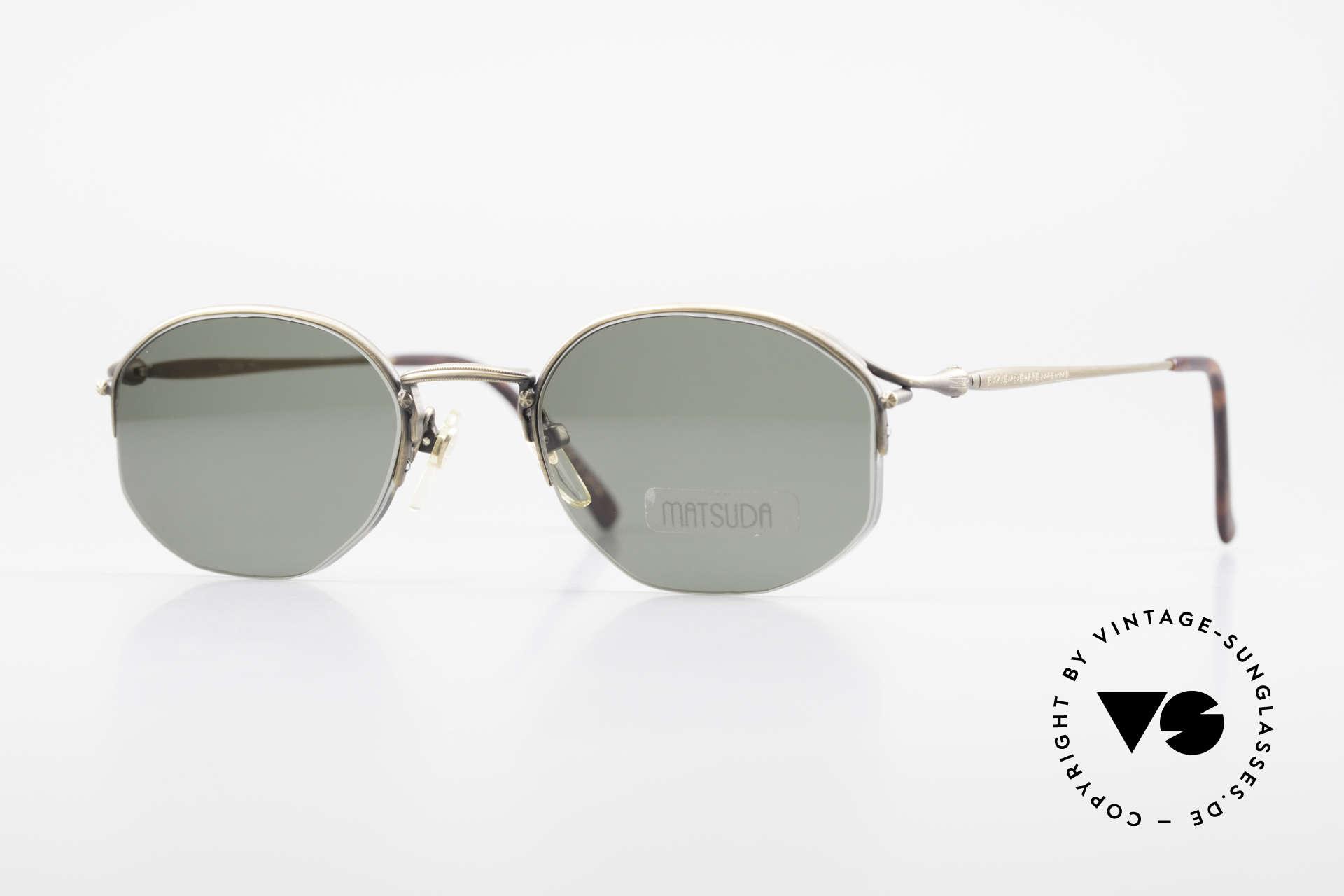 Matsuda 2855 Vintage Sonnenbrille Nylor, vintage Matsuda Sonnenbrille aus den 1990ern, Passend für Herren und Damen