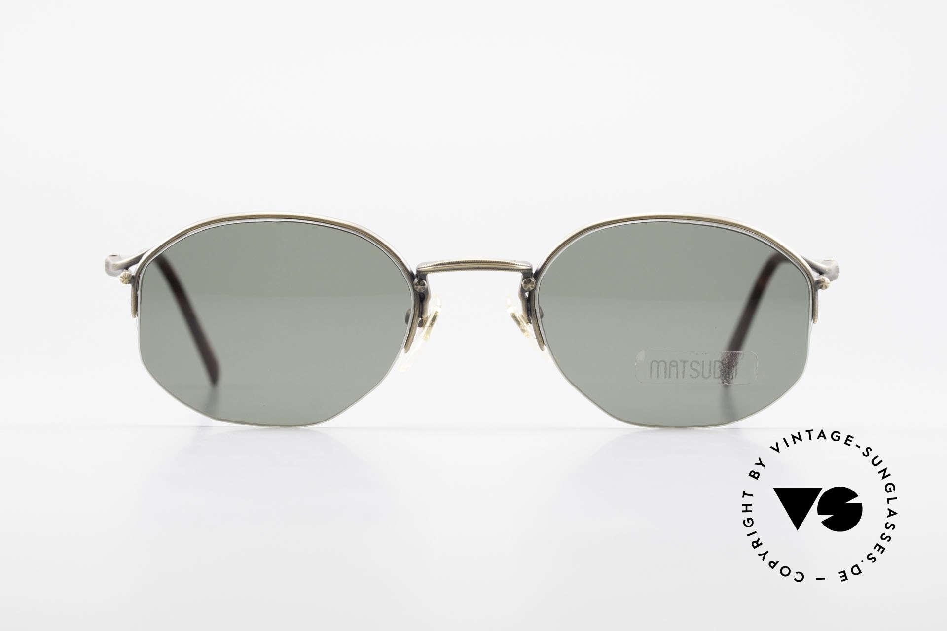 Matsuda 2855 Vintage Sonnenbrille Nylor, wirklich außergewöhnliche Rahmenkonstruktion, Passend für Herren und Damen