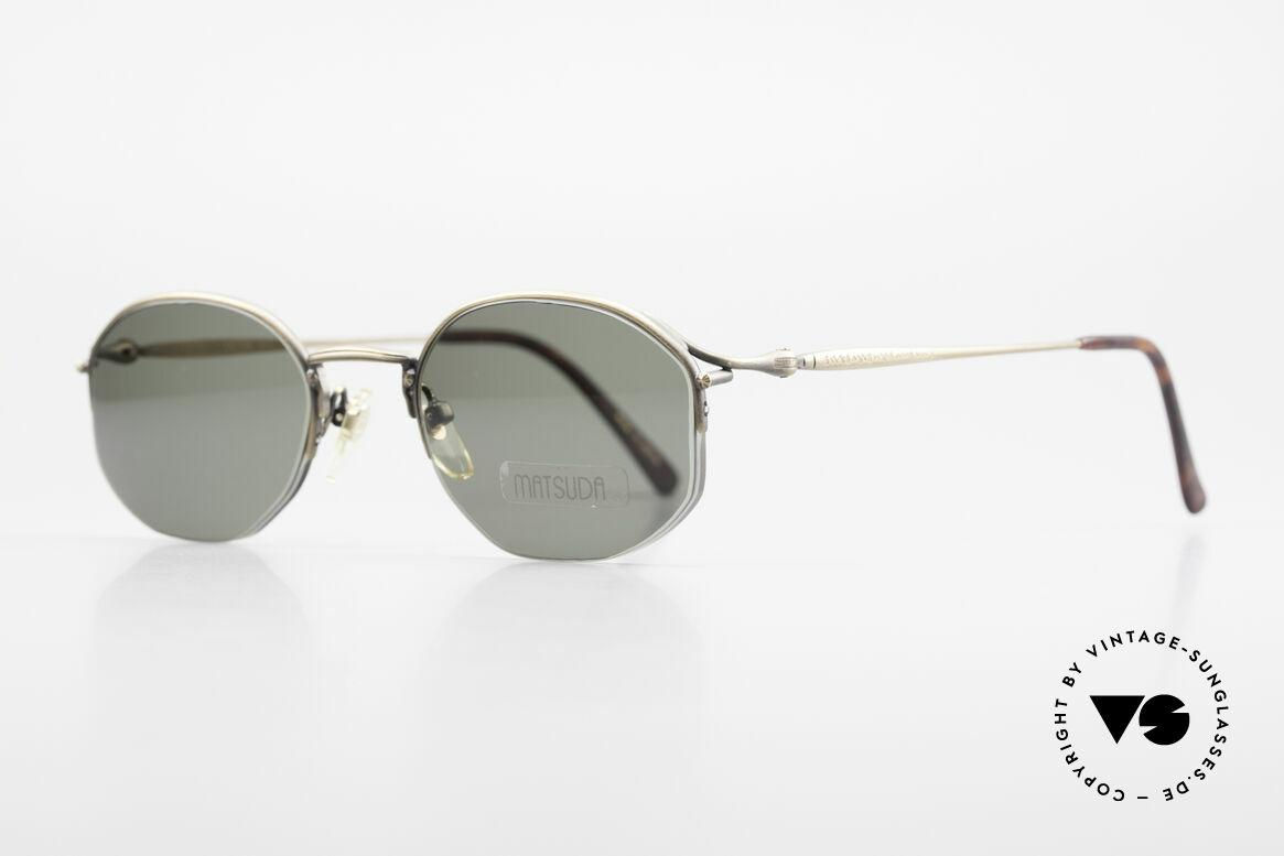 """Matsuda 2855 Vintage Sonnenbrille Nylor, die Sonnengläser sind """"halb-randlos"""" eingefasst, Passend für Herren und Damen"""
