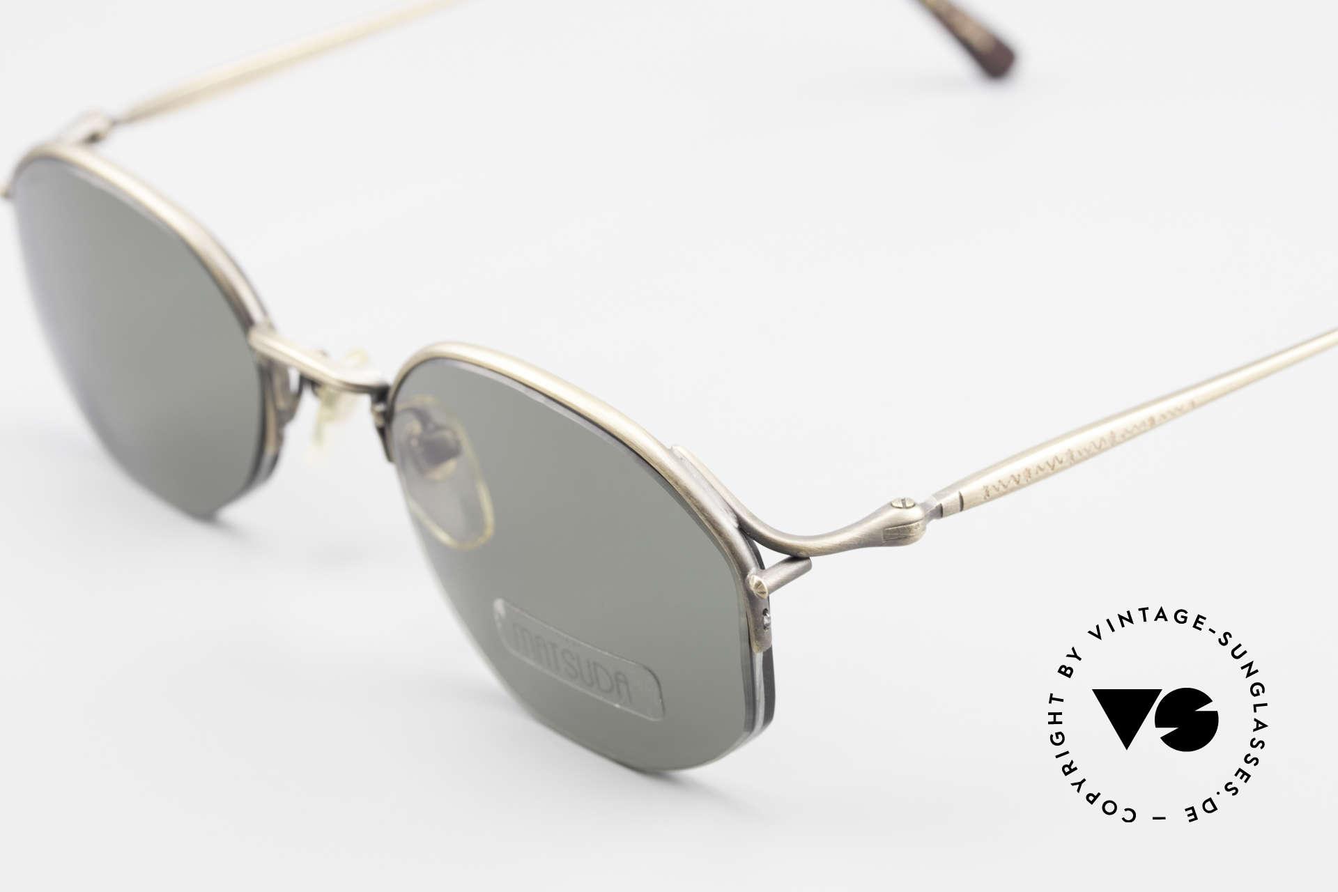 Matsuda 2855 Vintage Sonnenbrille Nylor, seltenes, 20 Jahre altes Einzelstück, KEIN RETRO, Passend für Herren und Damen