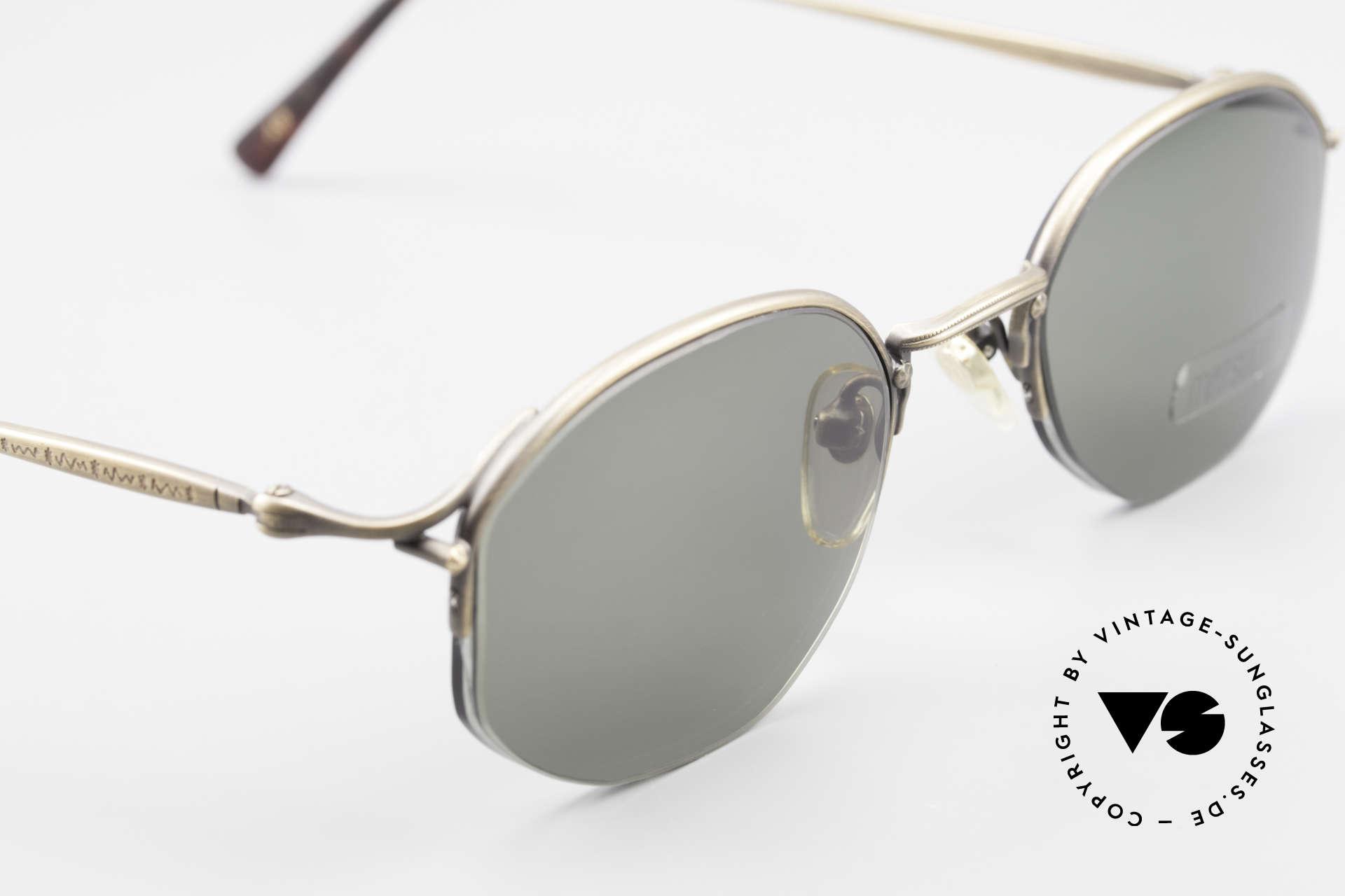 Matsuda 2855 Vintage Sonnenbrille Nylor, Sonnengläser können beliebig getauscht werden, Passend für Herren und Damen