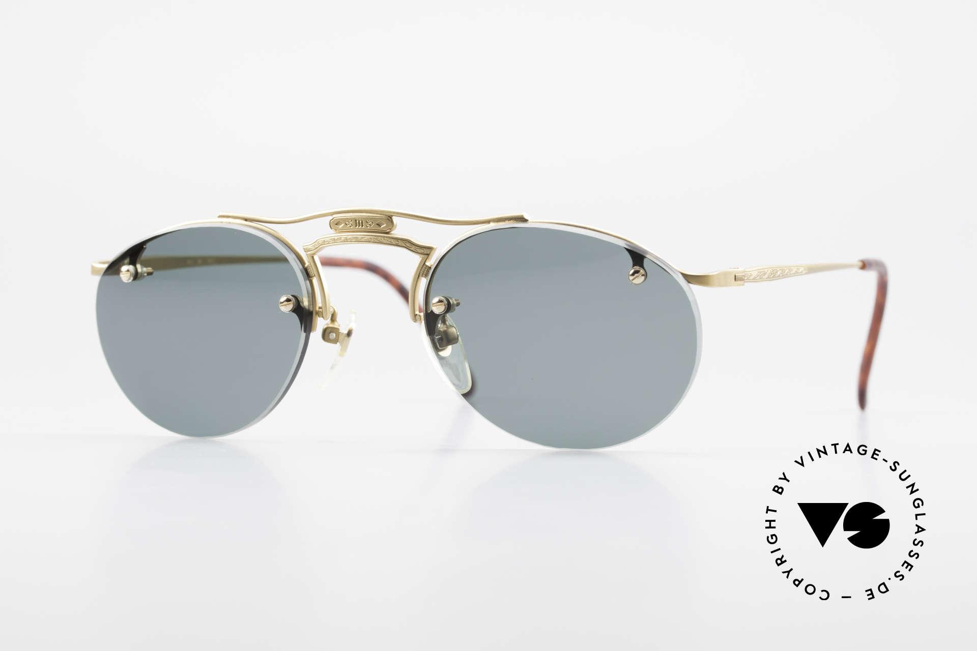 Matsuda 2823 Small Aviator Stil Brille 90er, vintage MATSUDA Sonnenbrille in kleiner Aviator-Form, Passend für Herren und Damen