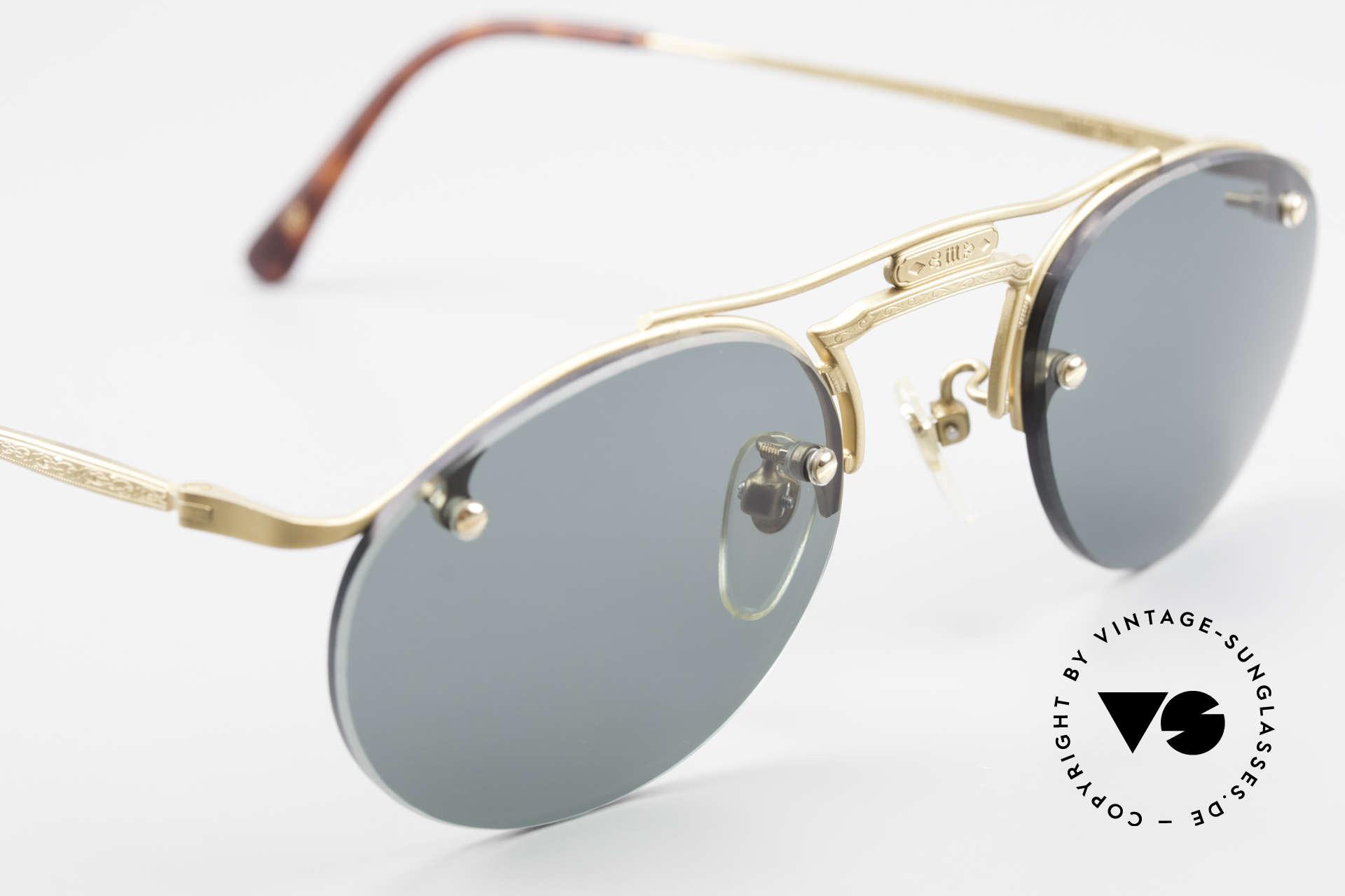 Matsuda 2823 Small Aviator Stil Brille 90er, KEINE RETROmode, sondern ein 25 Jahre altes ORIGINAL, Passend für Herren und Damen