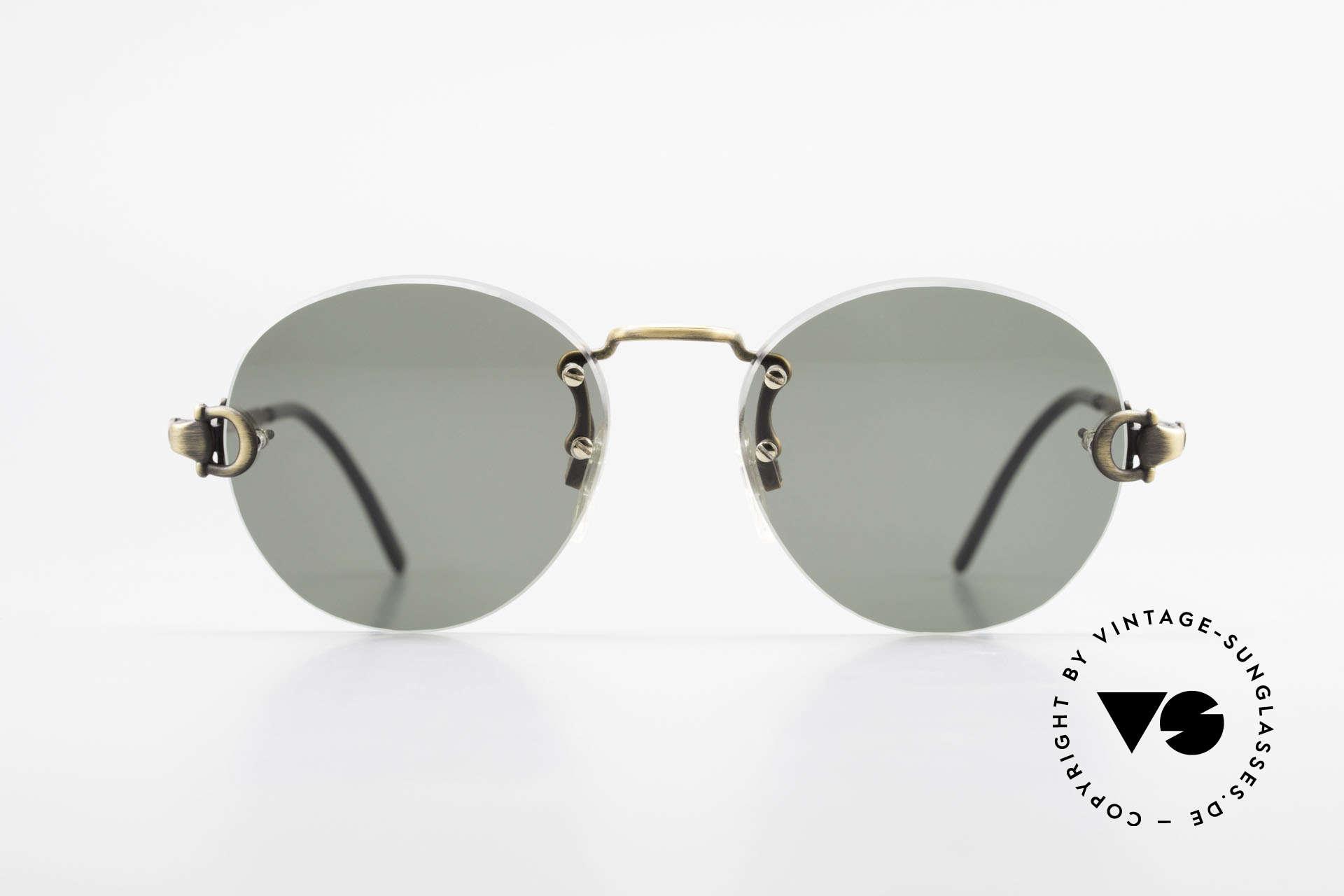 Gucci 2223 Runde Sonnenbrille Randlos, rundes Unisex-Modell: passend für Damen & Herren, Passend für Herren und Damen