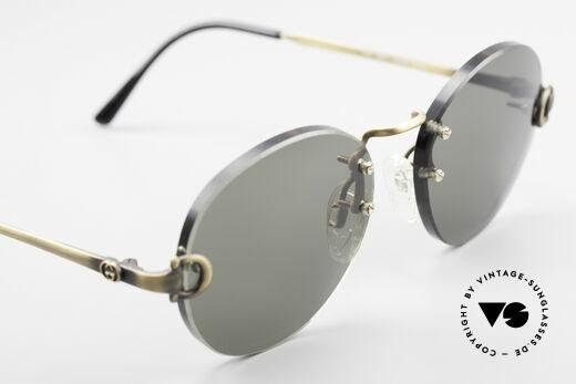 Gucci 2223 Runde Sonnenbrille Randlos, die Fassung ist beliebig verglasbar (optisch / Sonne), Passend für Herren und Damen