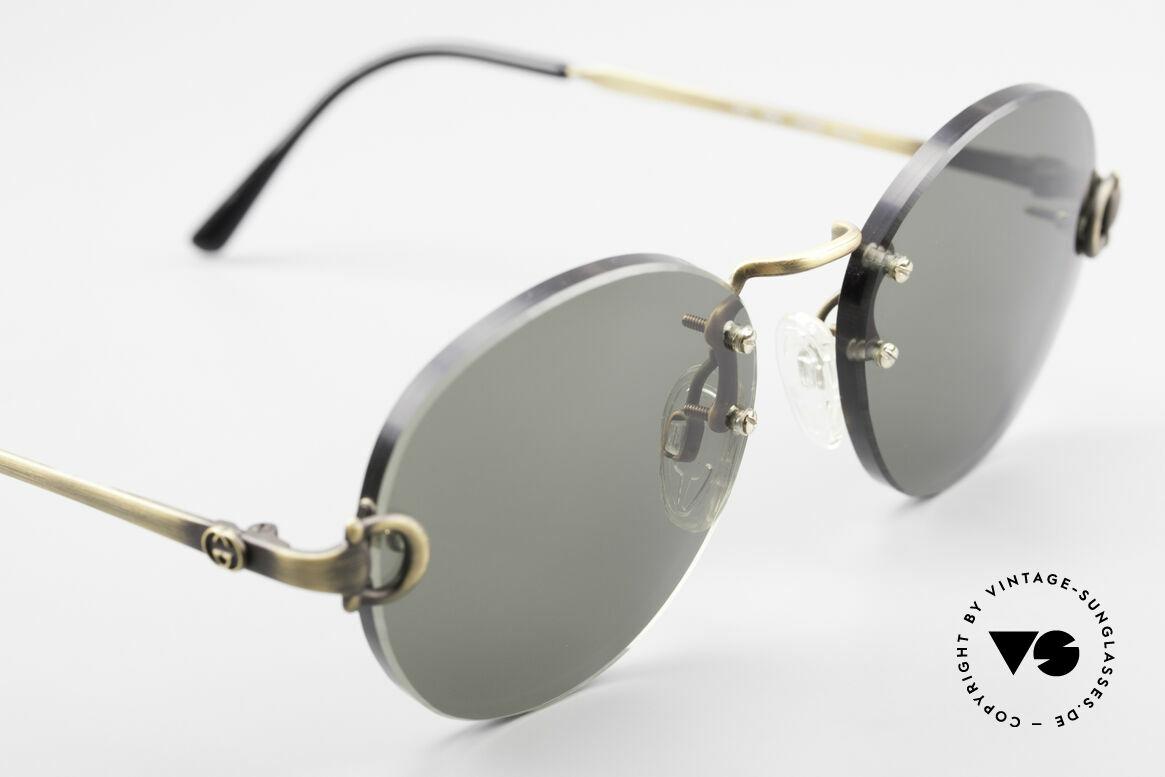 Gucci 2223 Runde Sonnenbrille Randlos