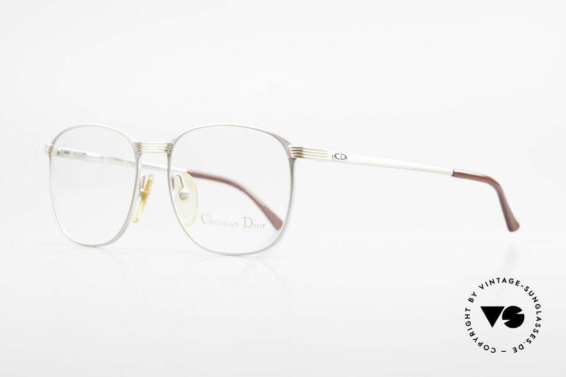 Christian Dior 2721 80er Titanium Fassung Herren, titanium/gold Rahmen mit flexiblen Federscharnieren, Passend für Herren