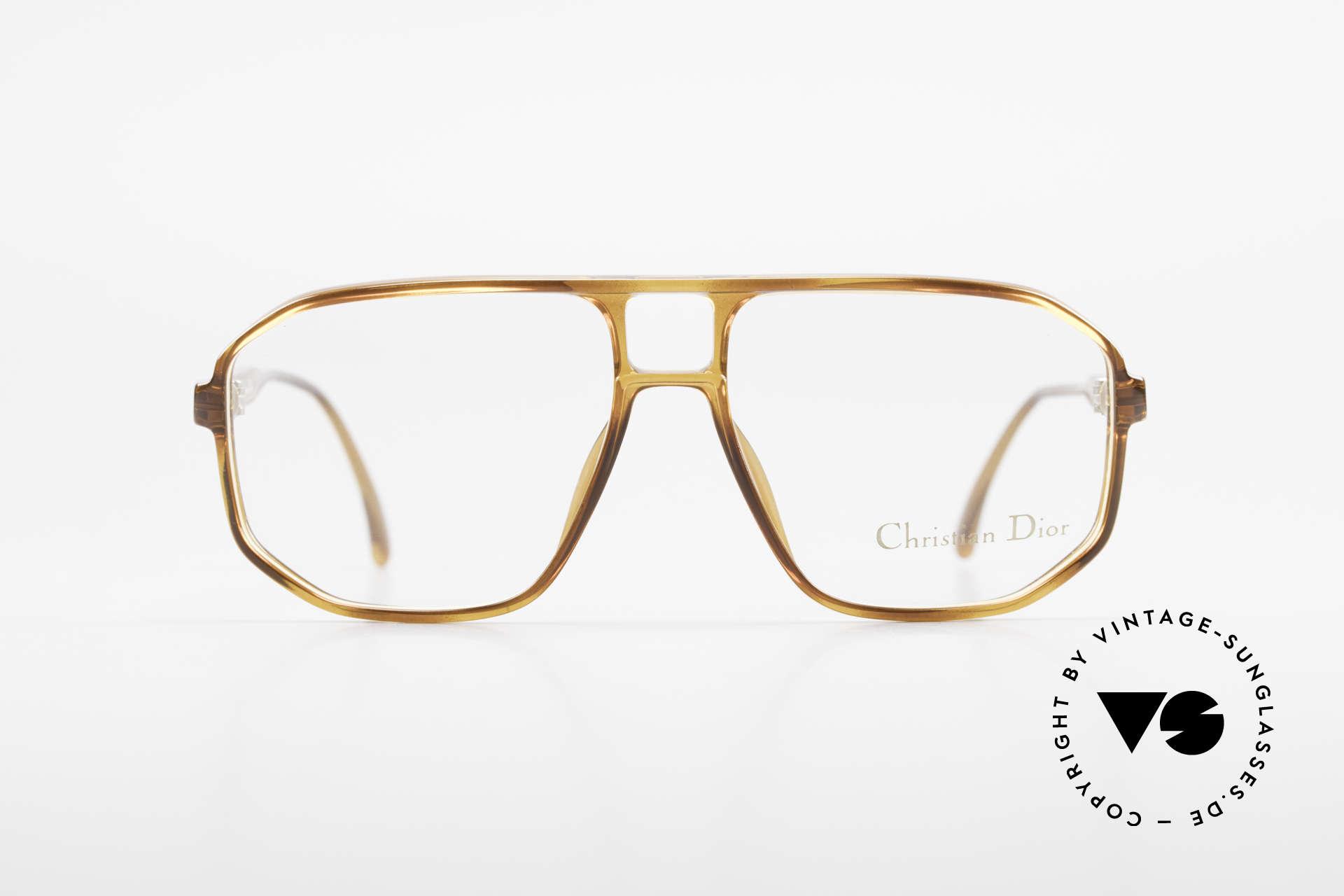 Christian Dior 2485 90er Vintage Herrenbrille, männliches Design mit markanter Doppel-Brücke, Passend für Herren