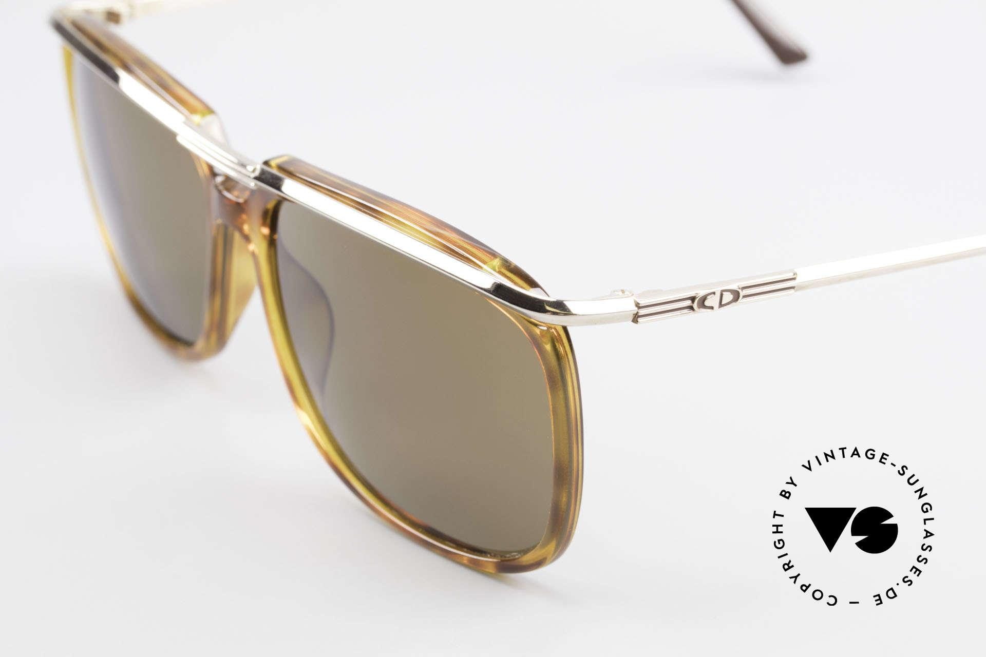 Christian Dior 2698 Alte 90er Herrensonnenbrille, mit braunen Mineral-Gläsern für 100% UV Schutz, Passend für Herren