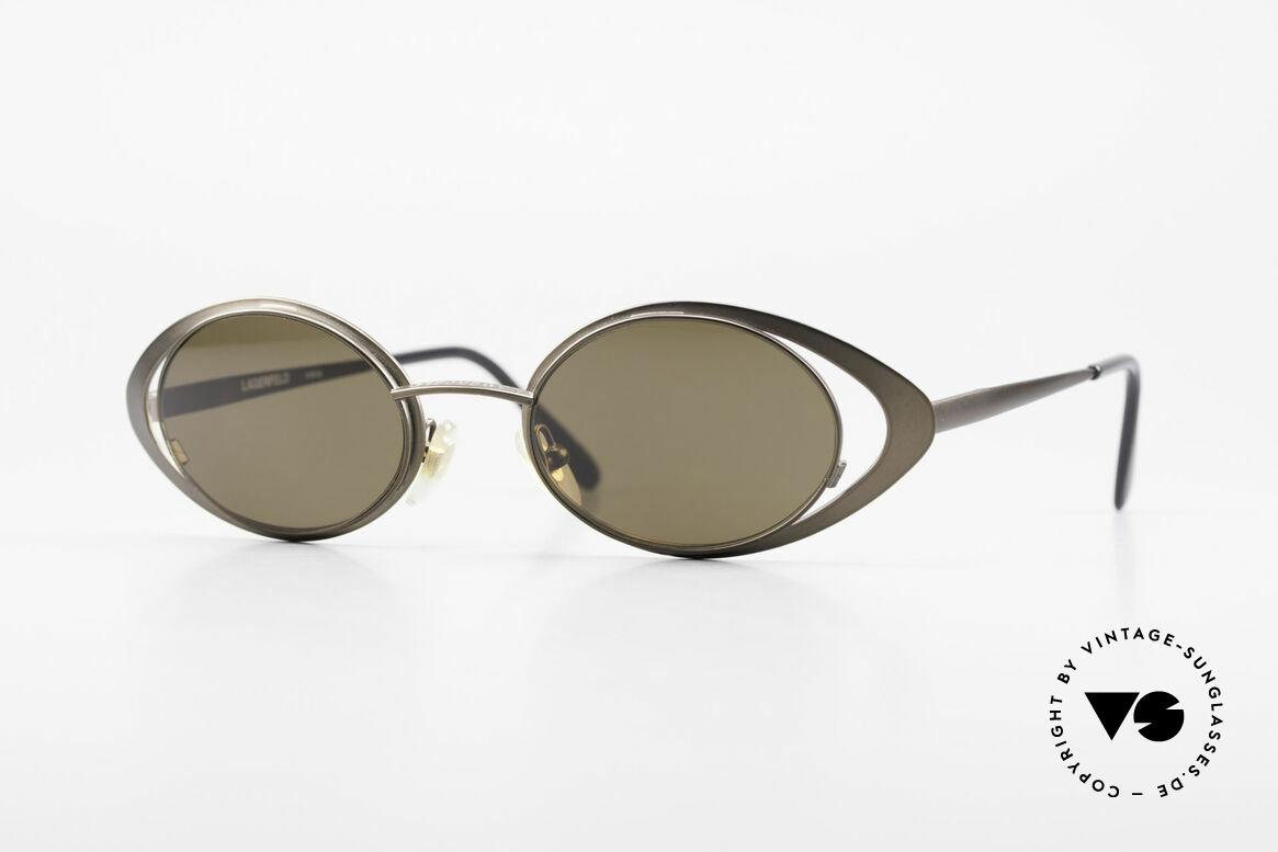 Karl Lagerfeld 4136 True Vintage Brille Oval 90er, echte vintage Karl Lagerfeld Designer-Sonnenbrille, Passend für Damen