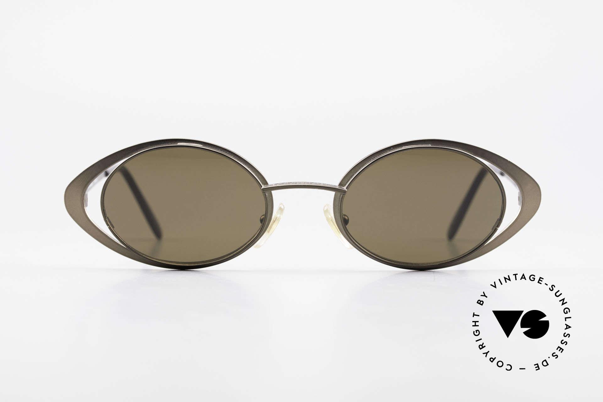 Karl Lagerfeld 4136 True Vintage Brille Oval 90er, Kleinserie aus den 90ern in herausragender Qualität, Passend für Damen