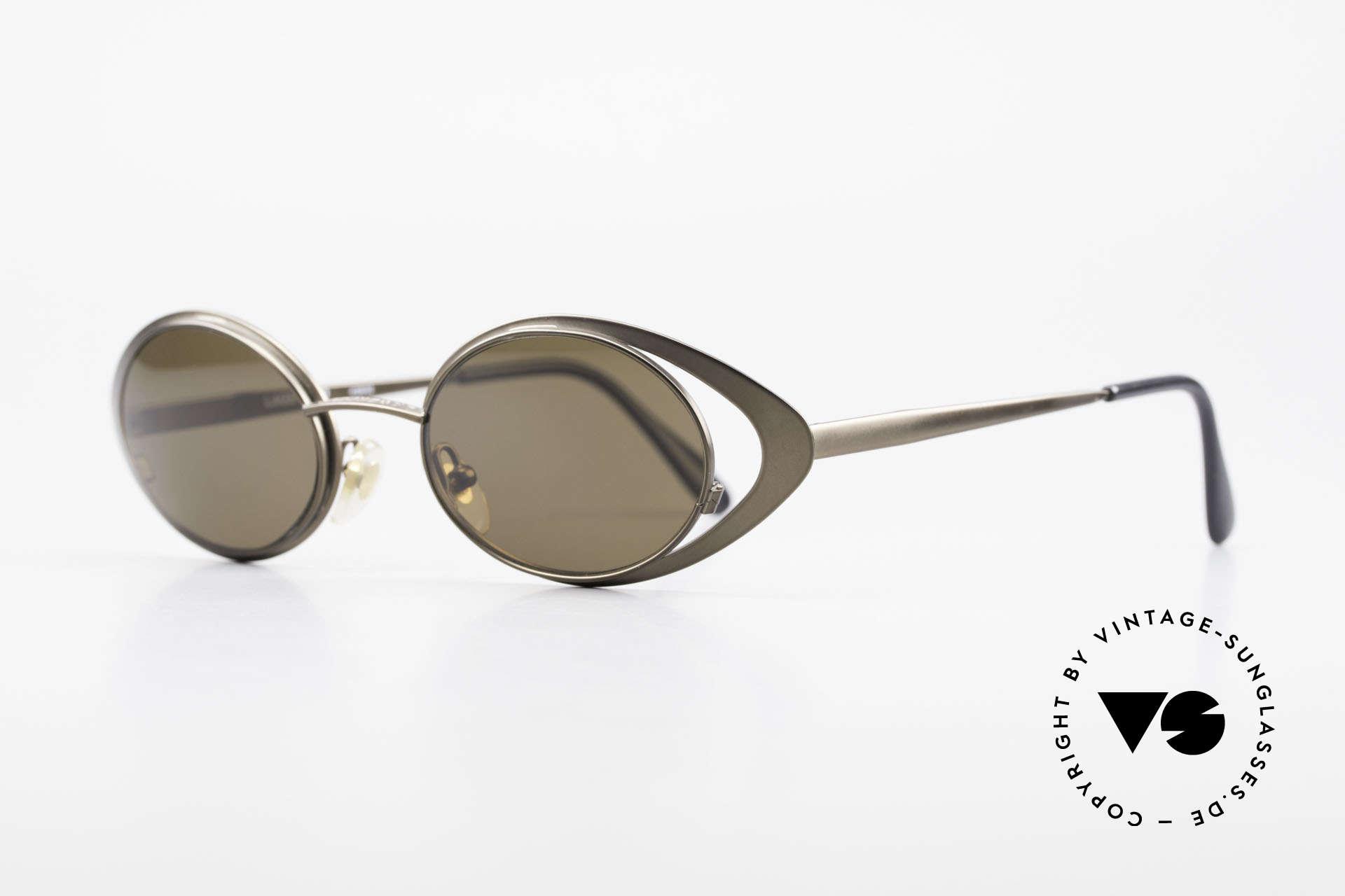 Karl Lagerfeld 4136 True Vintage Brille Oval 90er, wie aus einem Stück geschmiedet (muss man fühlen), Passend für Damen