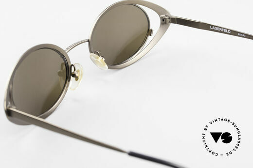 Karl Lagerfeld 4136 True Vintage Brille Oval 90er, Größe: medium, Passend für Damen