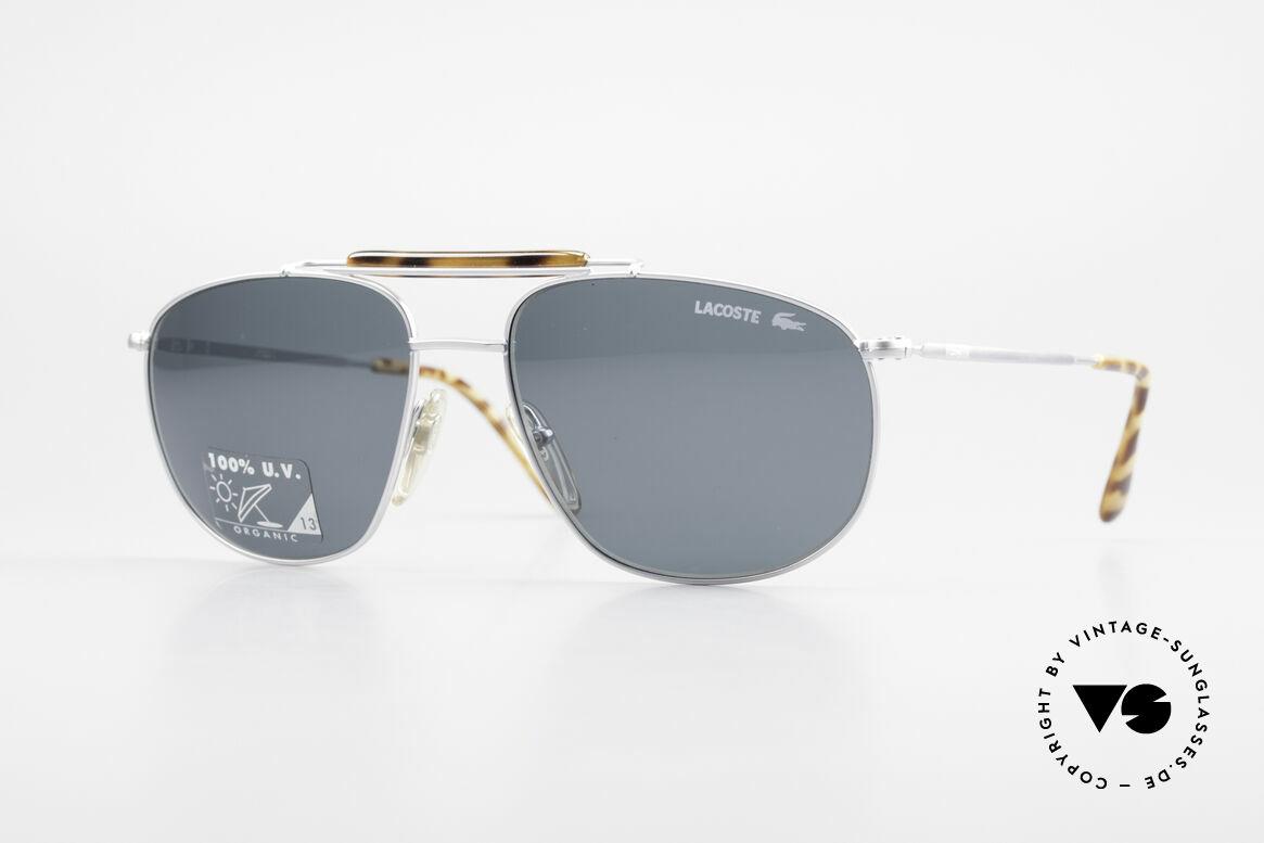 Lacoste 149 Titanium Sonnenbrille Herren, hochwertige Lacoste XL vintage Sonnenbrille, Passend für Herren