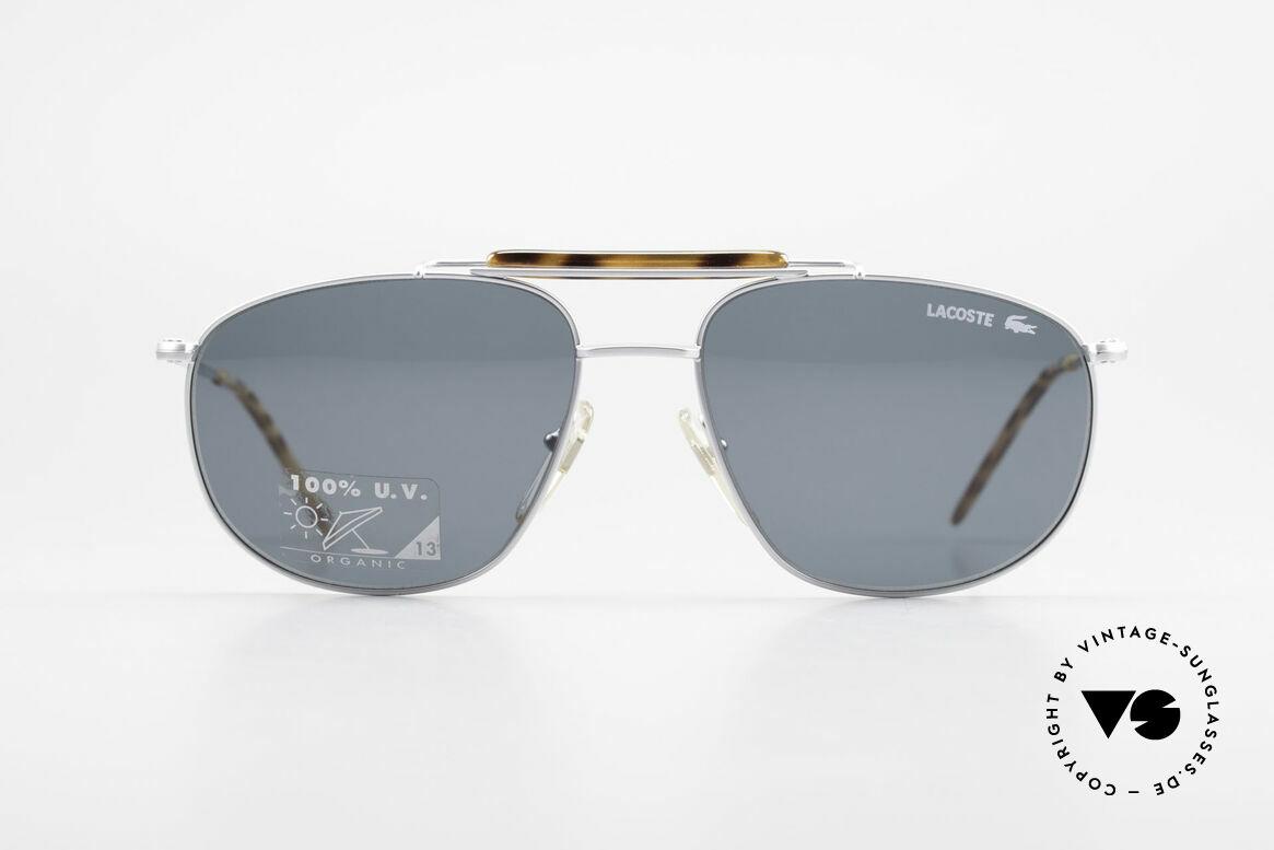 Lacoste 149 Titanium Sonnenbrille Herren, Hybride aus Sport und Schick, mit orig. Etui, Passend für Herren