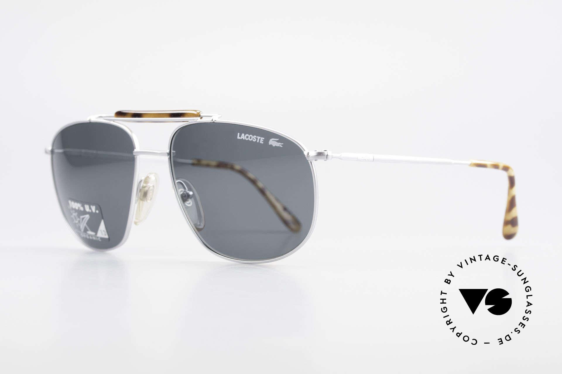 Lacoste 149 Titanium Sonnenbrille Herren, sehr solide Verarbeitung, gepaart mit Eleganz, Passend für Herren