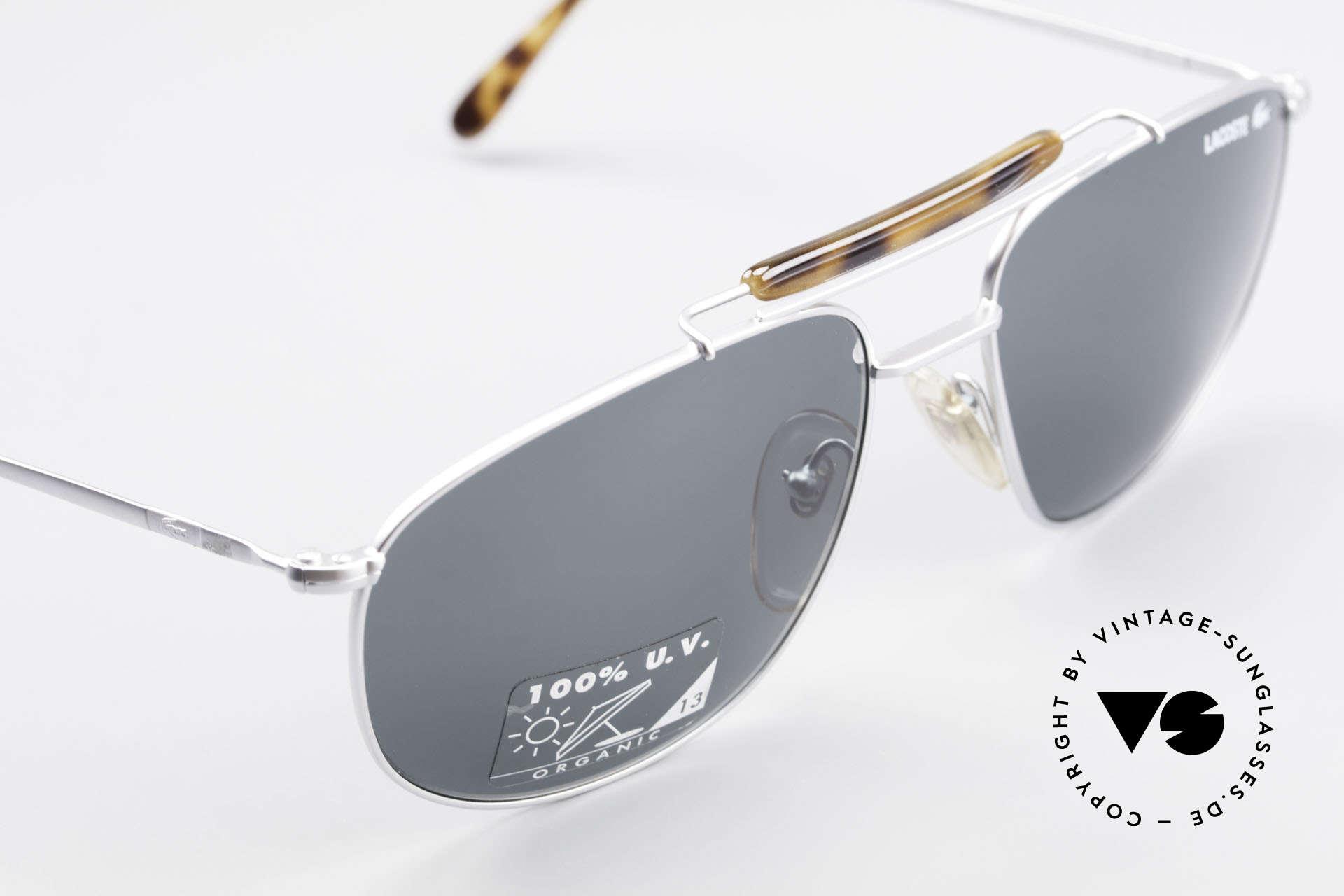 Lacoste 149 Titanium Sonnenbrille Herren, ungetragen (wie alle unsere LACOSTE Brillen), Passend für Herren