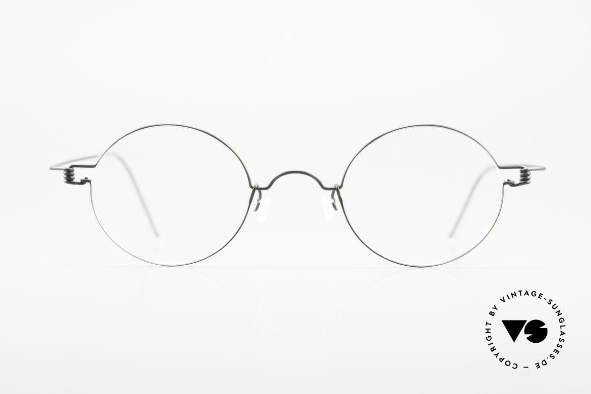 Lindberg Corona Air Titan Rim Runde Titanium Brille Unisex, LINDBERG Air Titanium Rim Brille in Größe 44-25, 145, Passend für Herren und Damen