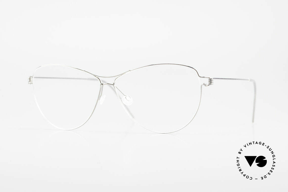 Lindberg Ditte Air Titan Rim Titanium Brille Damen Aviator, LINDBERG Air Titanium Rim Brille in Größe 57-19, 135, Passend für Damen