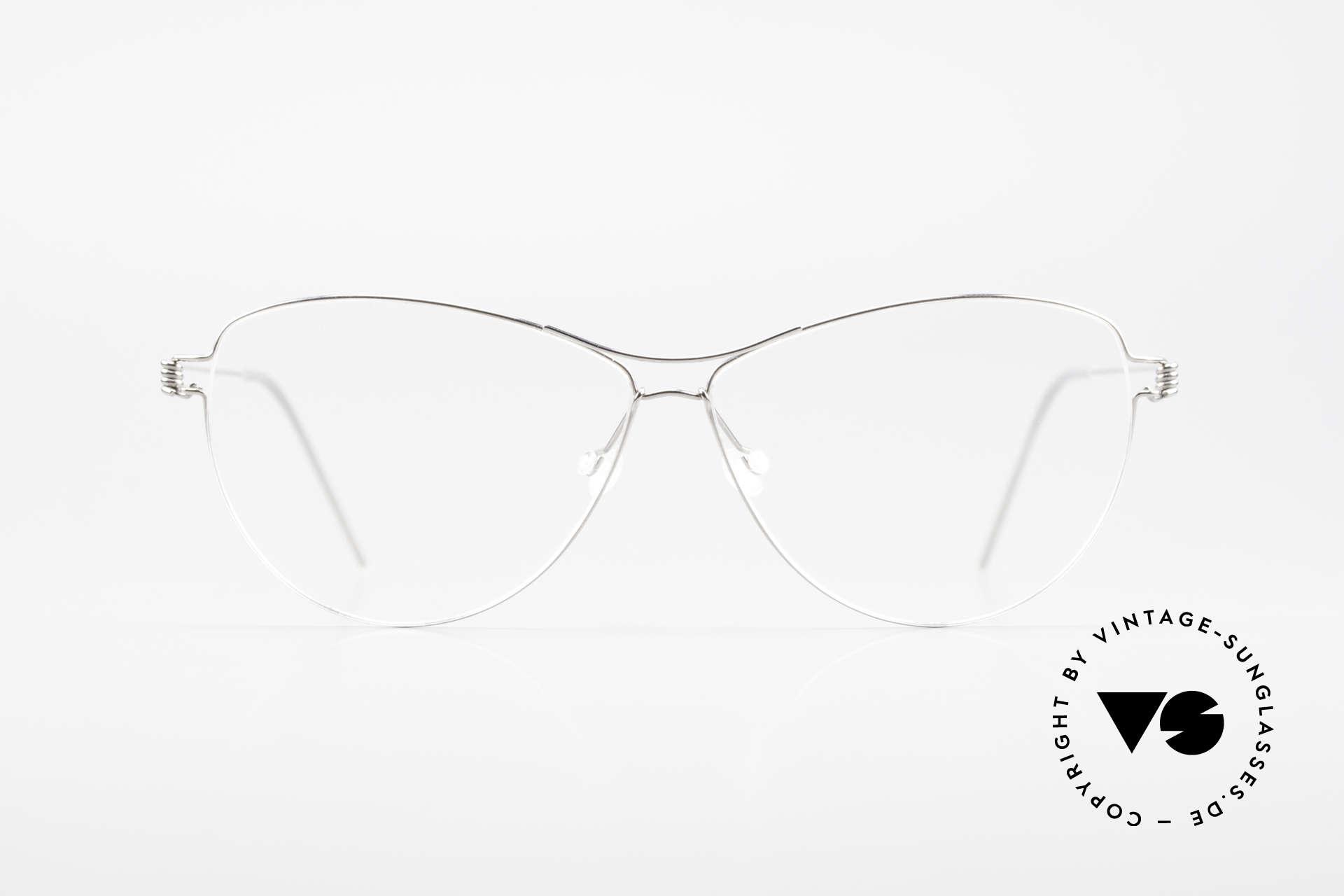 Lindberg Ditte Air Titan Rim Titanium Brille Damen Aviator, vielfach ausgezeichnet hinsichtlich Qualität und Design, Passend für Damen