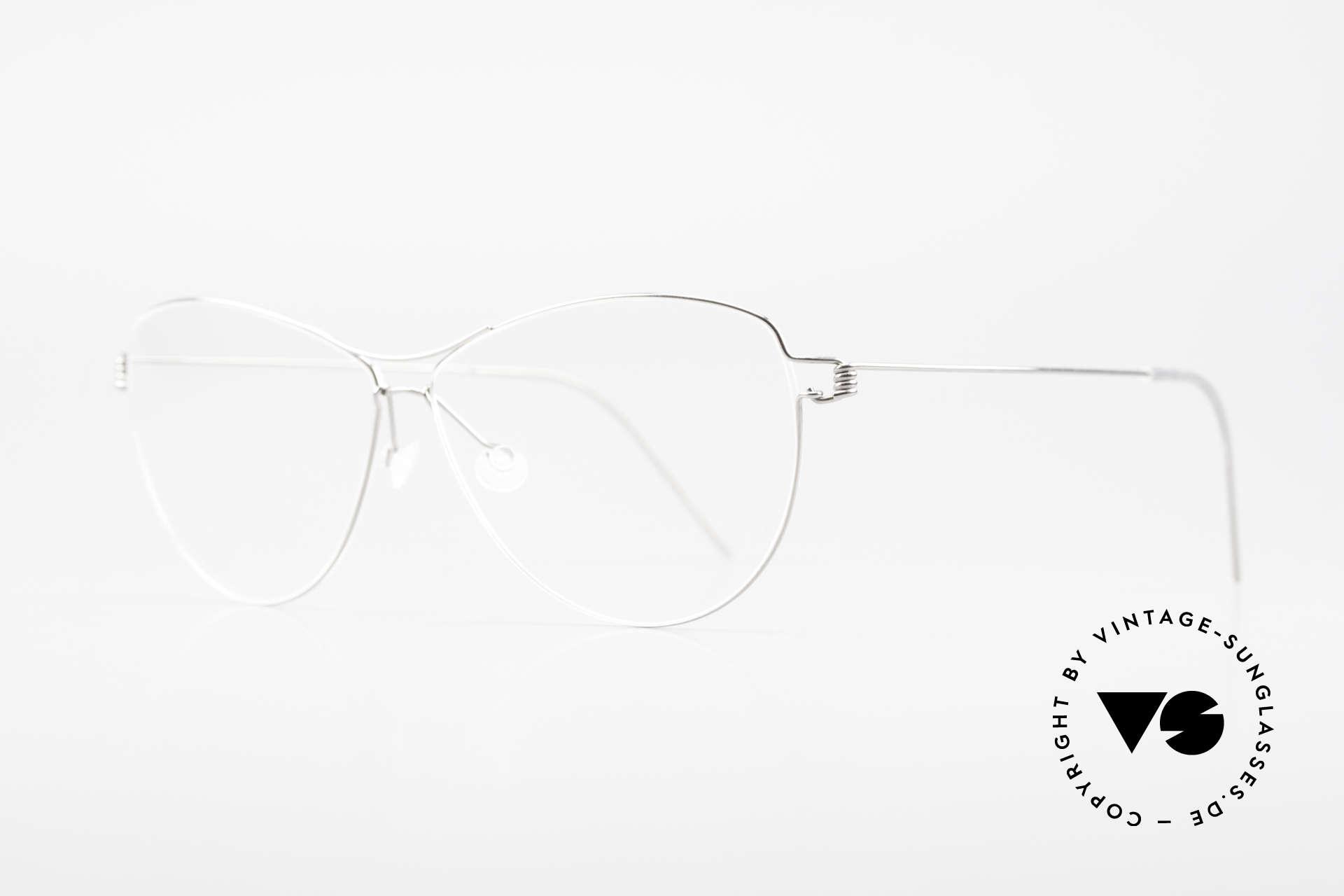 """Lindberg Ditte Air Titan Rim Titanium Brille Damen Aviator, so zeitlos, stilvoll und innovativ = Prädikat """"VINTAGE"""", Passend für Damen"""