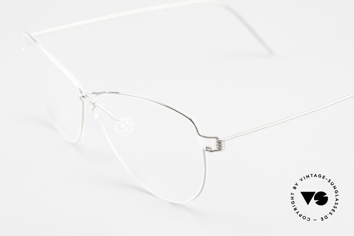 Lindberg Ditte Air Titan Rim Titanium Brille Damen Aviator, extrem stabile Fassung, flexibel & elastisch, und nur 3g, Passend für Damen