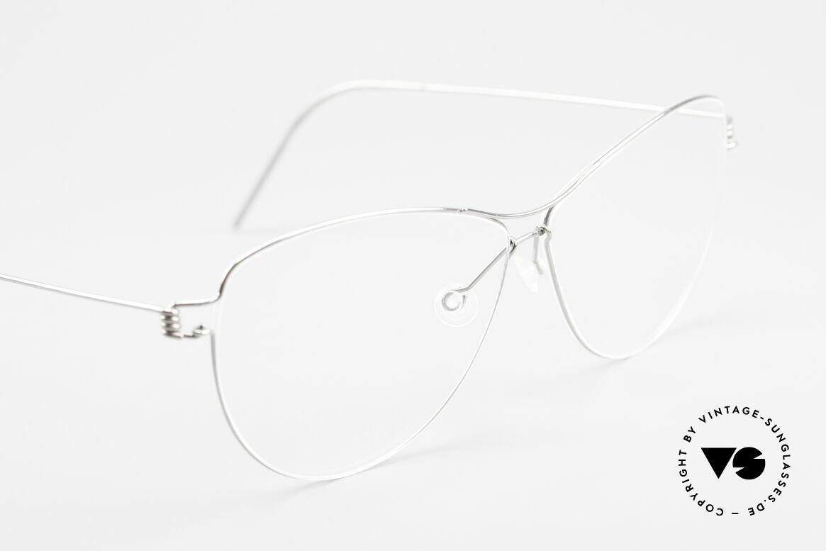 Lindberg Ditte Air Titan Rim Titanium Brille Damen Aviator, ungetragenes Designerstück + orig. Lindberg Magnet-Etui, Passend für Damen