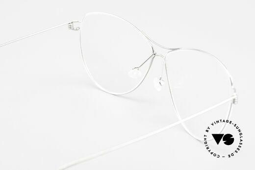 Lindberg Ditte Air Titan Rim Titanium Brille Damen Aviator, eleganter Rahmen ohne Schrauben, Nieten oder Lötungen, Passend für Damen