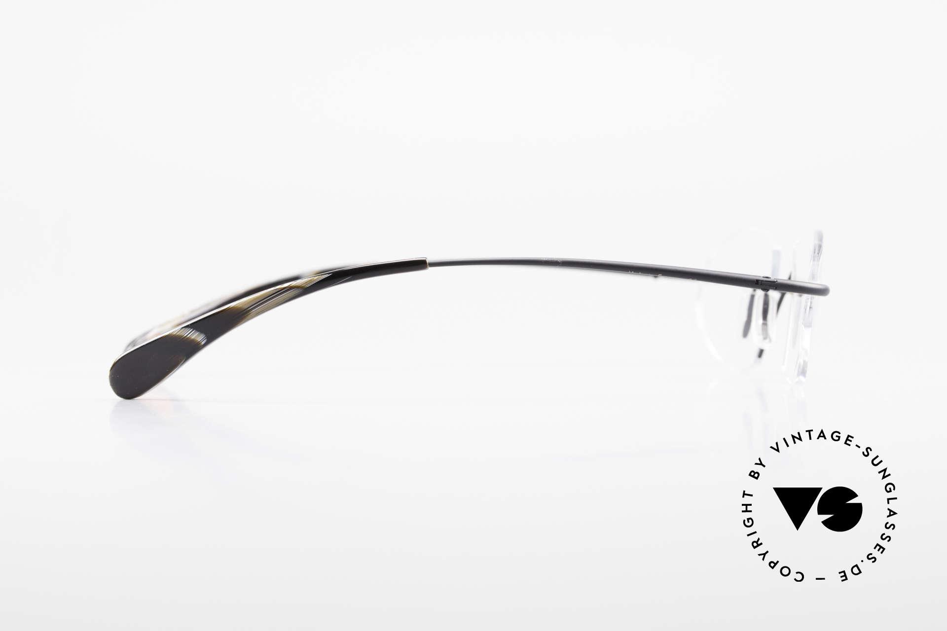 Bugatti 357 Odotype Randlose DesignerBrille Rar, sehr spezielle Glasform; RANDLOS eingefasst, Passend für Herren